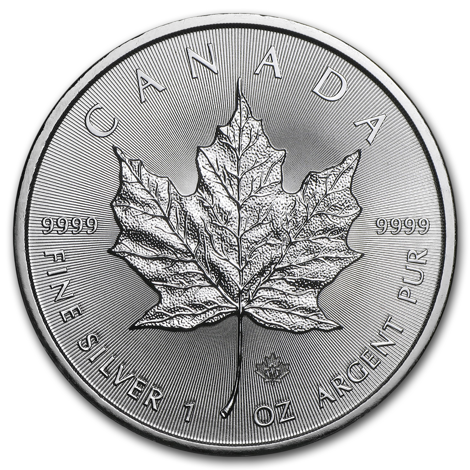 2014 Canada 1 oz Silver Maple Leaf (25-Coin MintDirect® Tube)