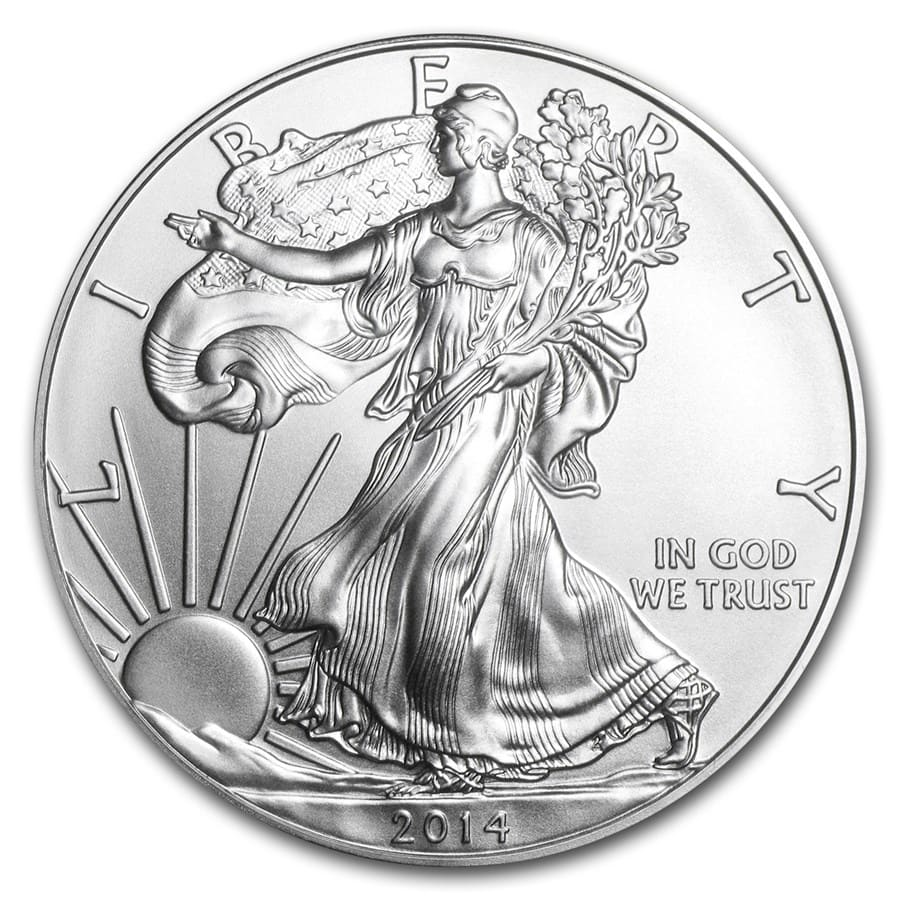 2014 1 oz Silver Eagle SF Mint (20-Coin MintDirect® Tube)