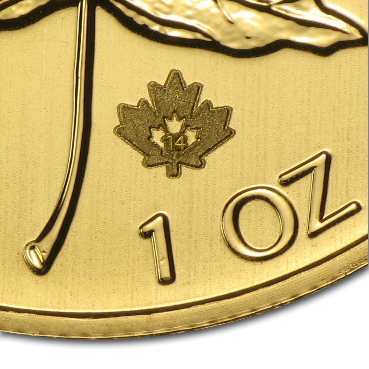 2014 1 oz Gold Canadian Maple Leaf
