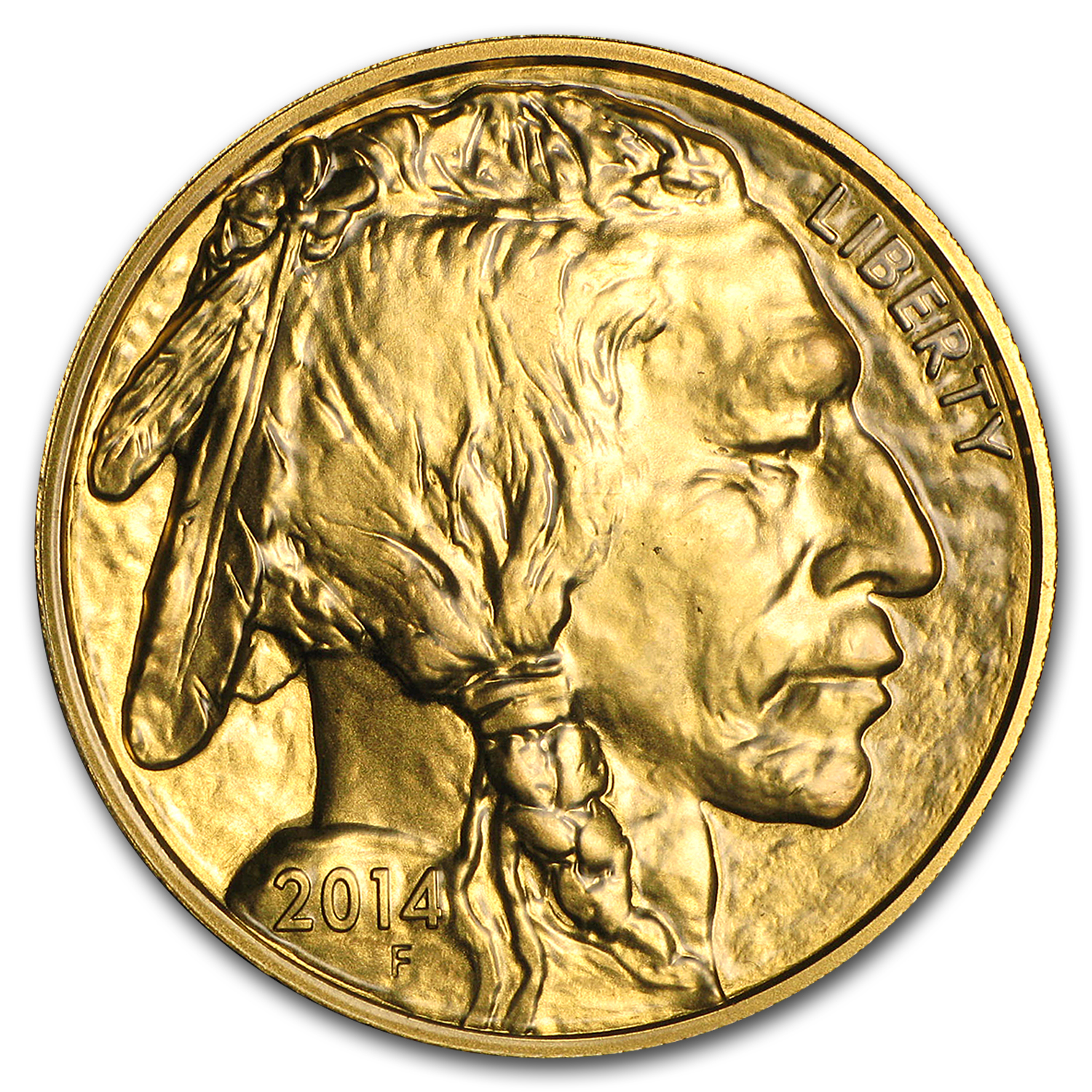 2014 1 oz Gold Buffalo BU