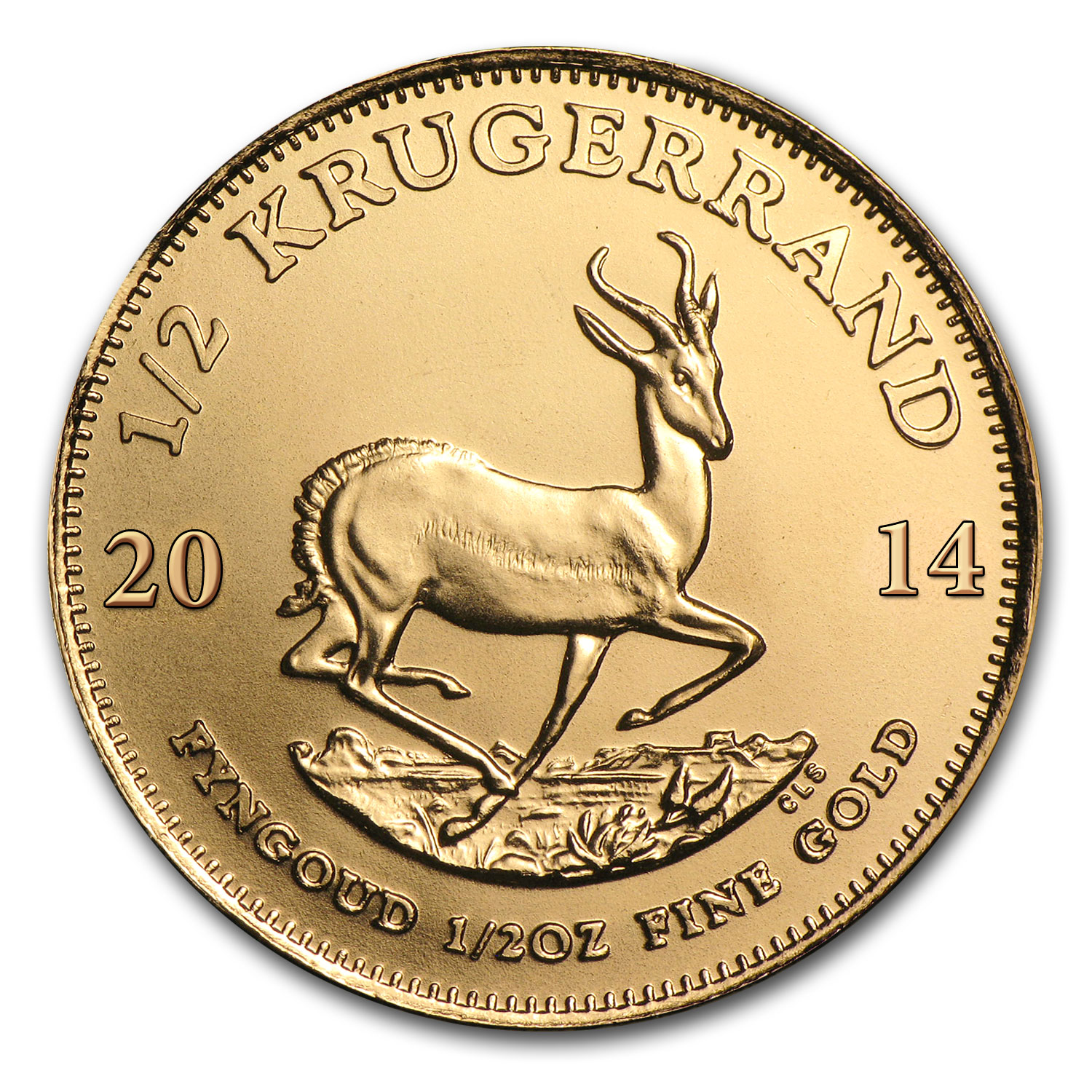 2014 South Africa 1/2 oz Gold Krugerrand