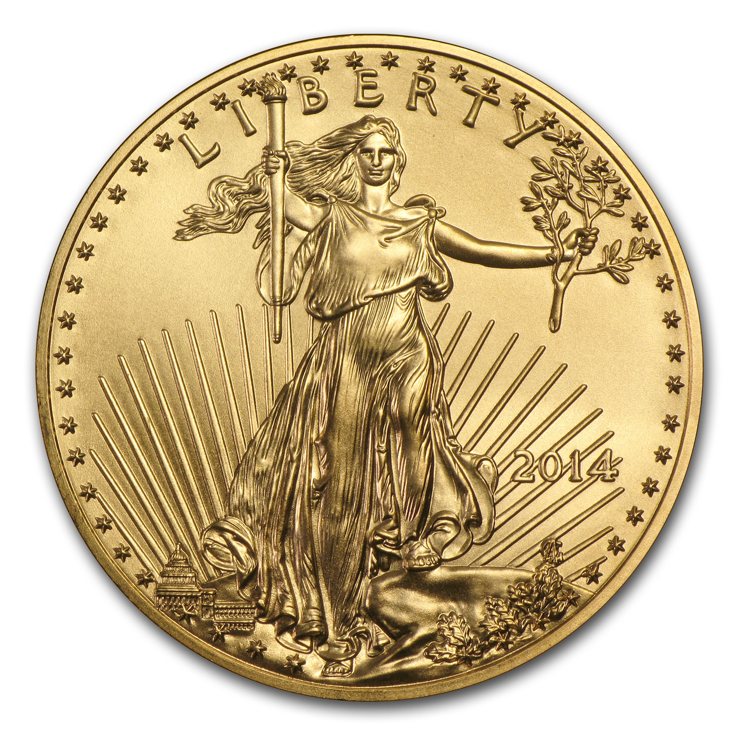 2014 1/4 oz Gold American Eagle BU