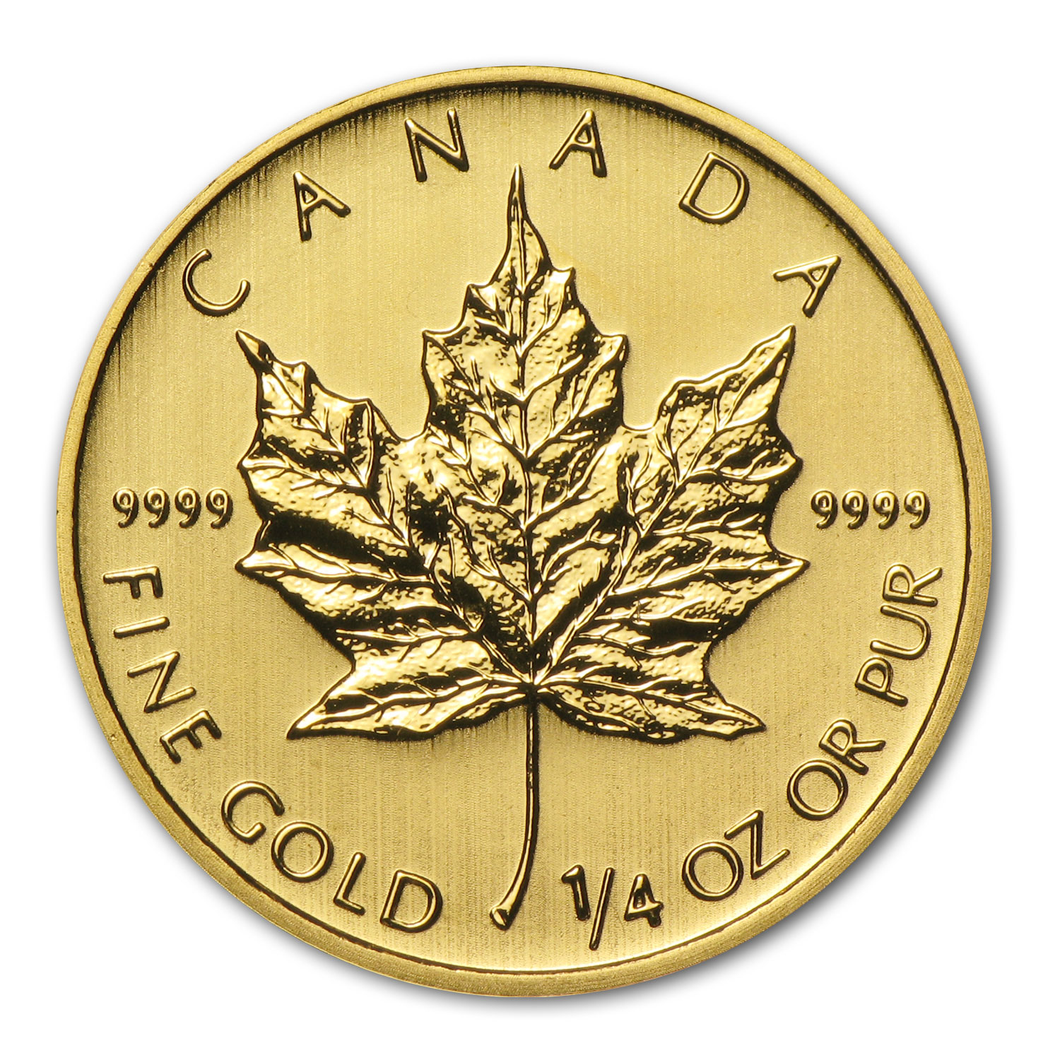 2014 1/4 oz Gold Canadian Maple Leaf BU