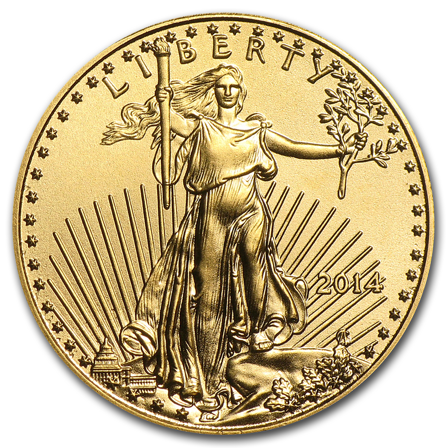 2014 1/10 oz Gold American Eagle BU