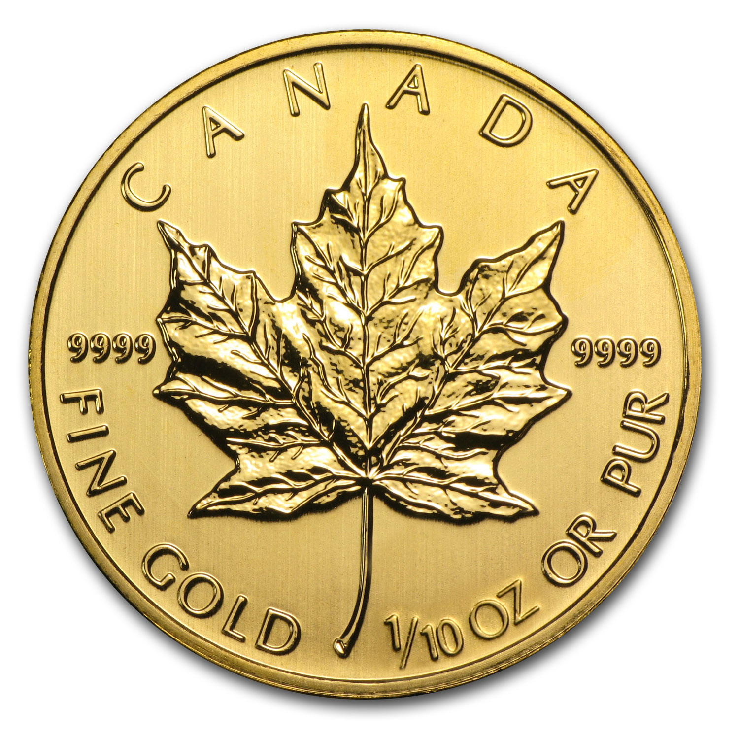 2014 1/10 oz Gold Canadian Maple Leaf BU