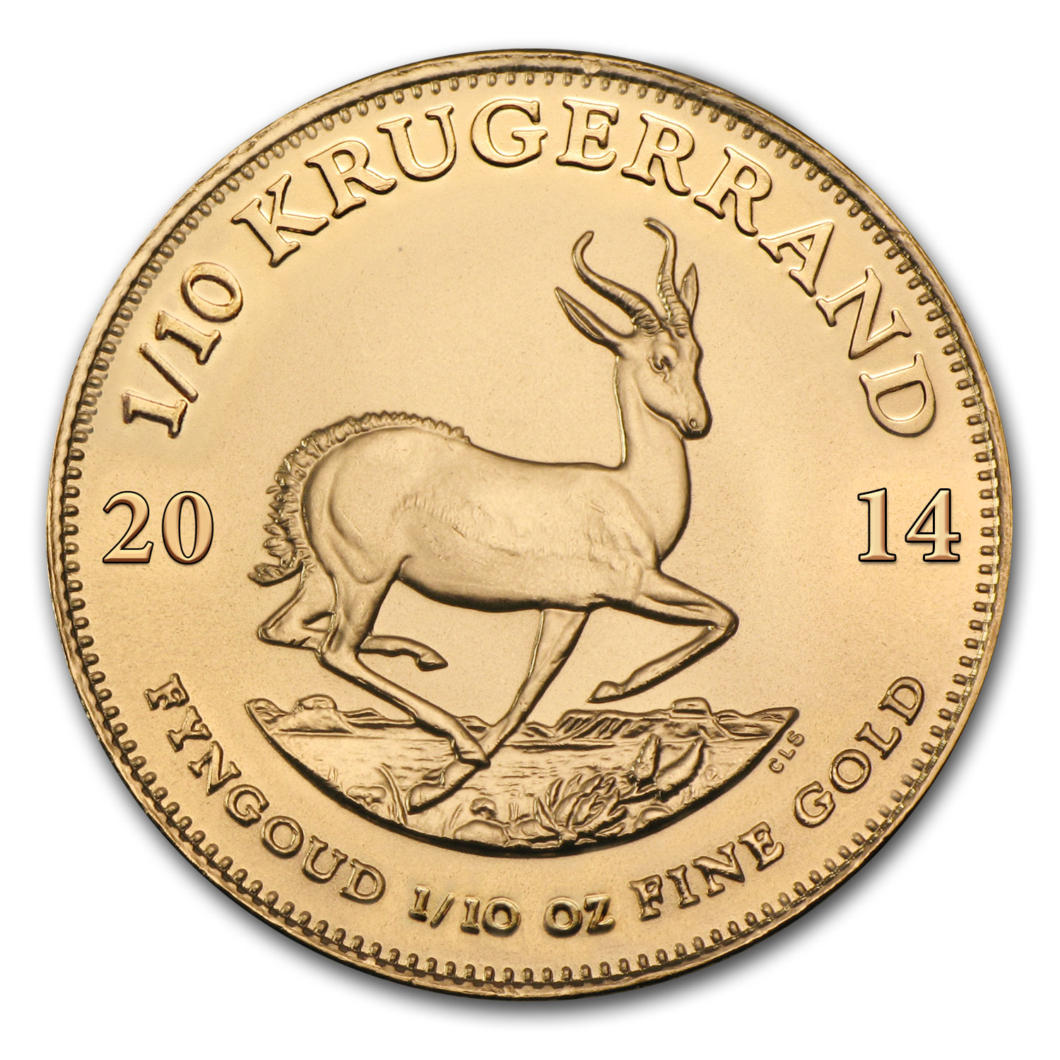 2014 1/10 oz Gold South African Krugerrand