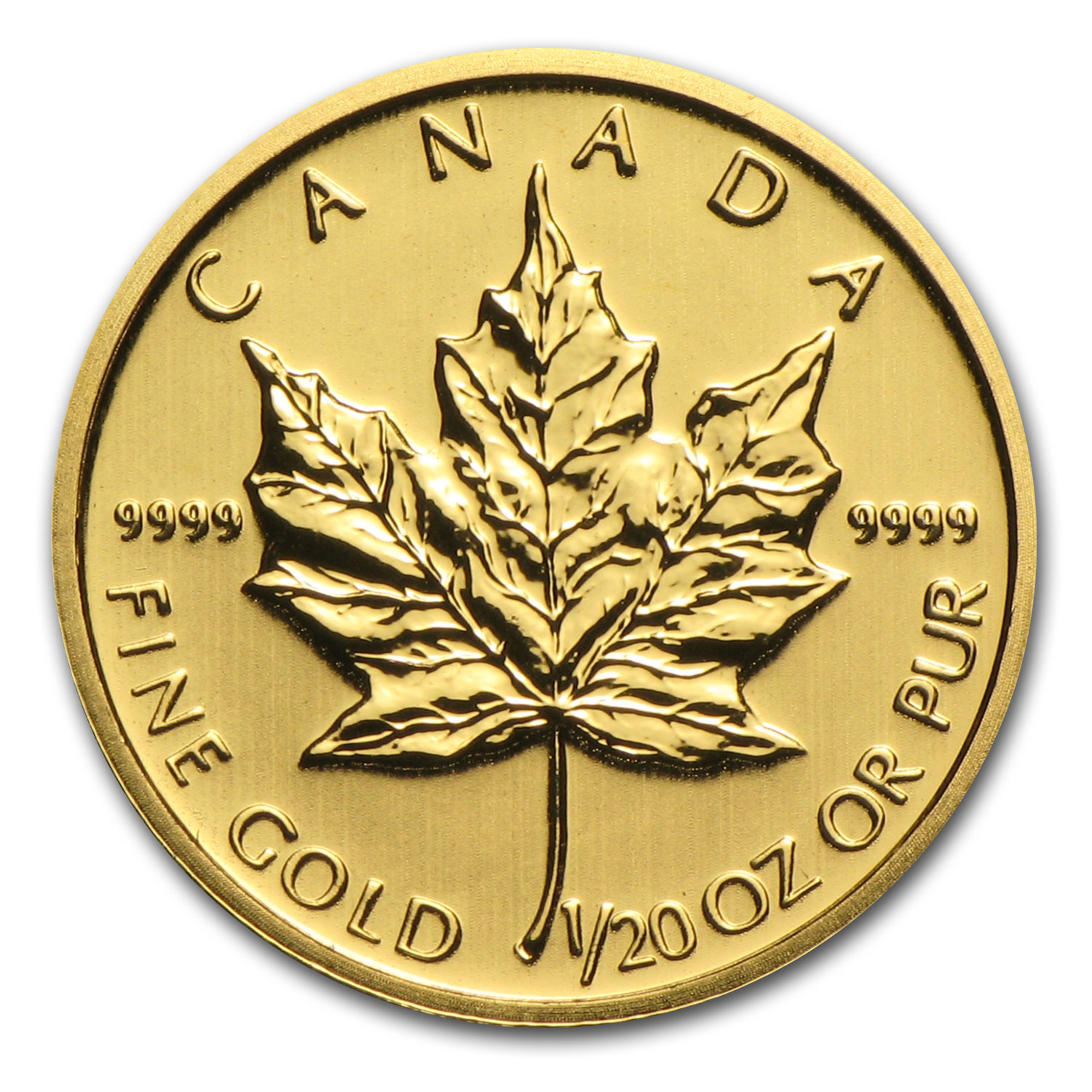 2014 1/20 oz Gold Canadian Maple Leaf BU