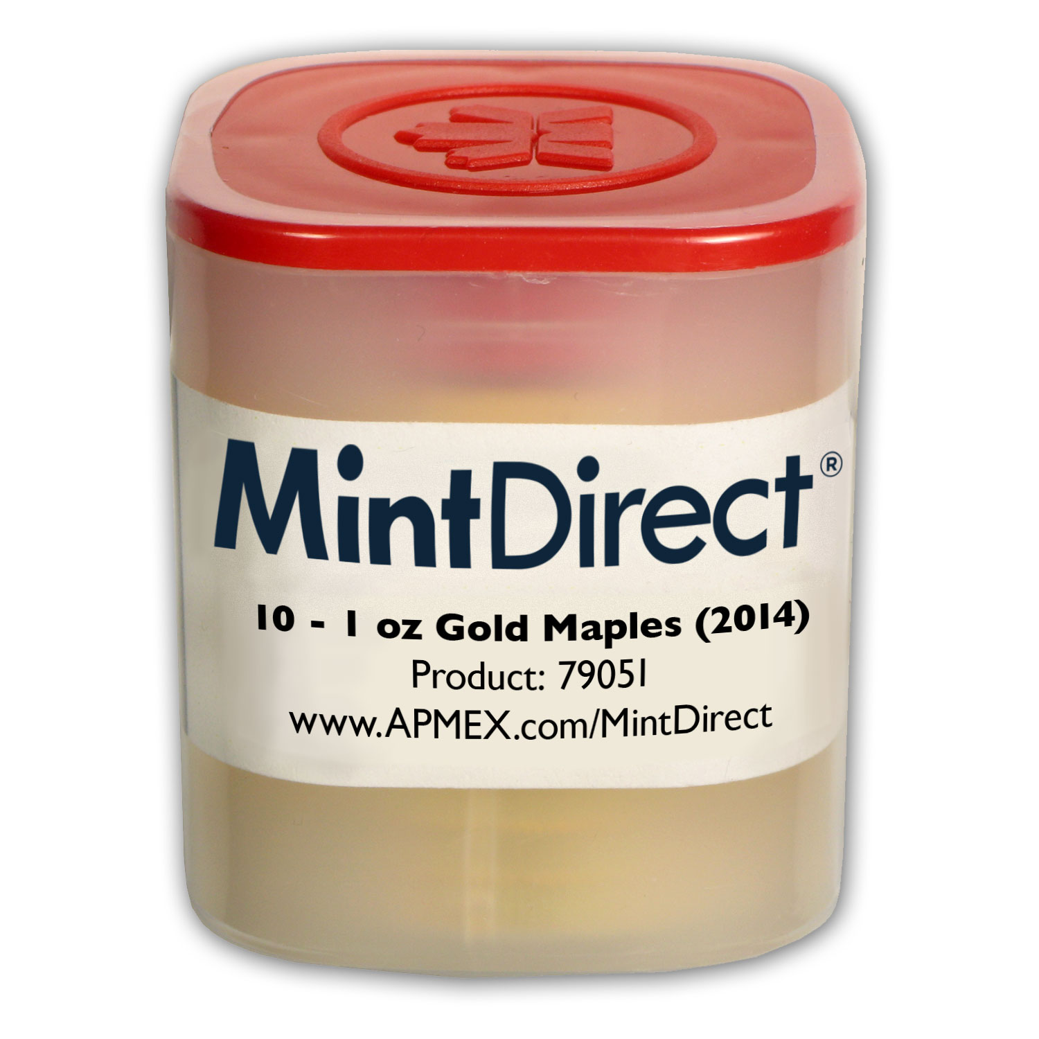 2014 1 oz Gold Maple Leafs (10-Coin MintDirect® Tube)