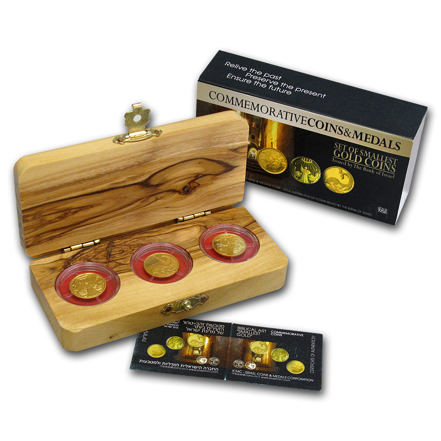 2010-12 Israel 3-Coin Gold Biblical Art Series Proof Set