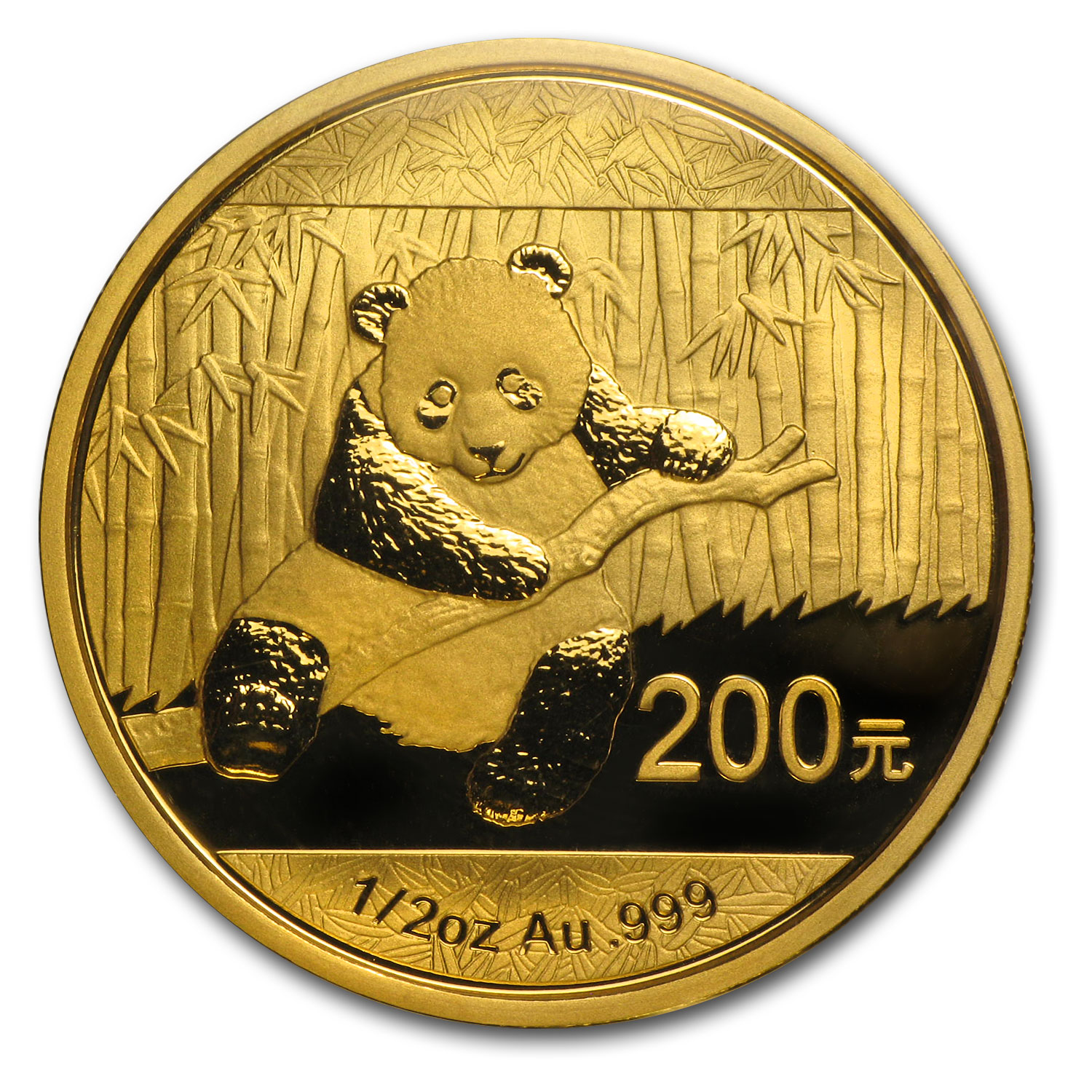 2014 1/2 oz Gold Chinese Panda BU (Sealed)