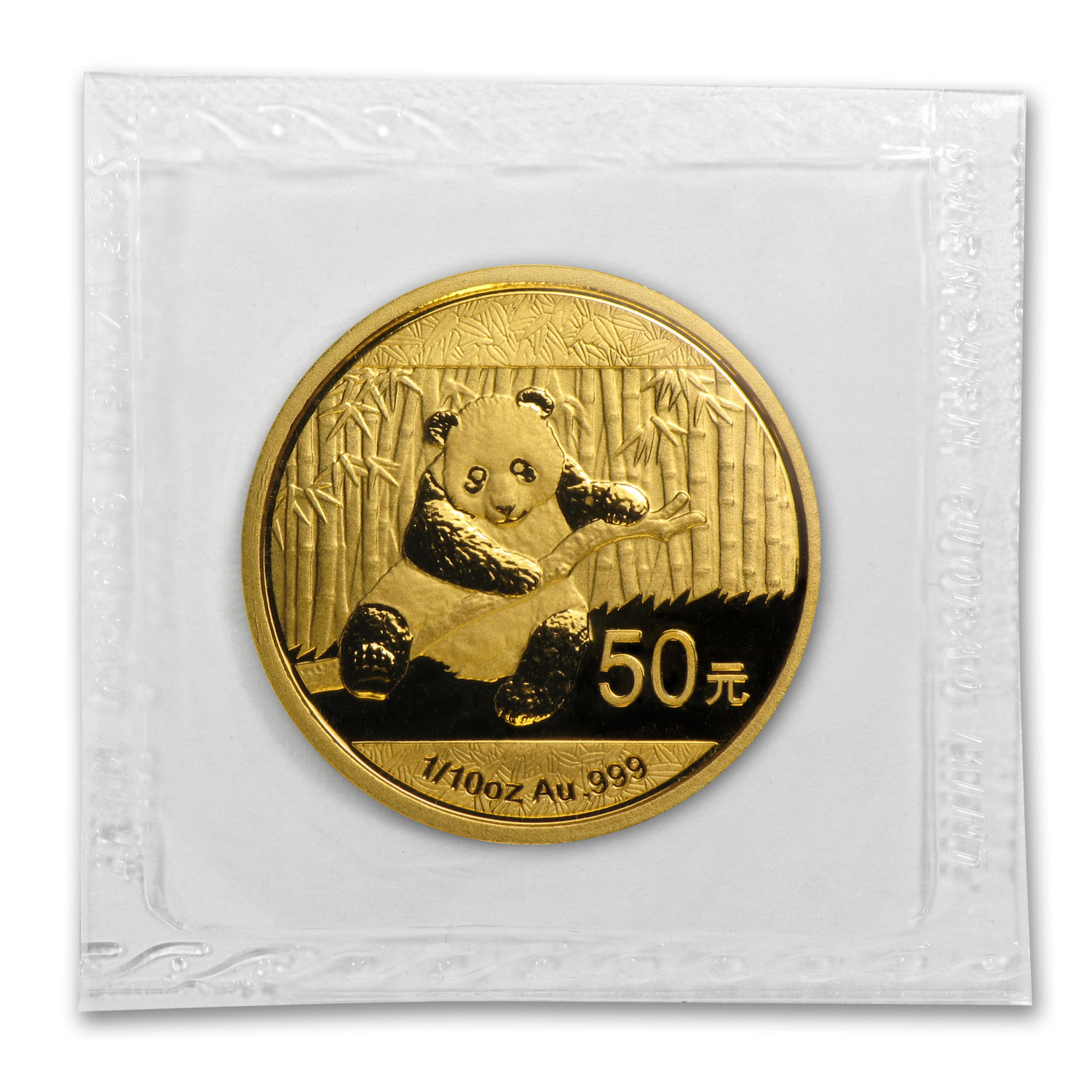 2014 1/10 oz Gold Chinese Panda BU (Sealed)