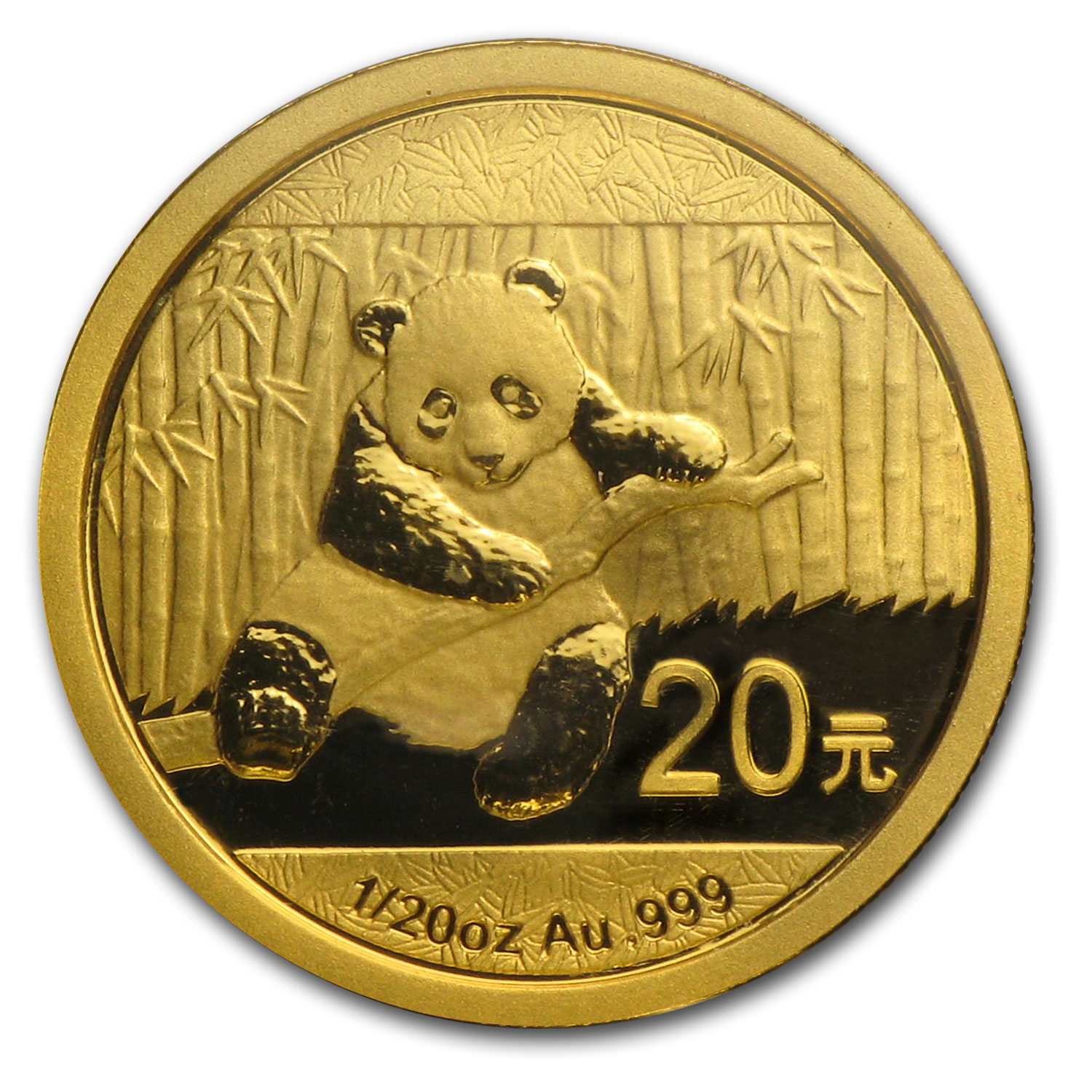 2014 China 1/20 oz Gold Panda BU (Sealed)