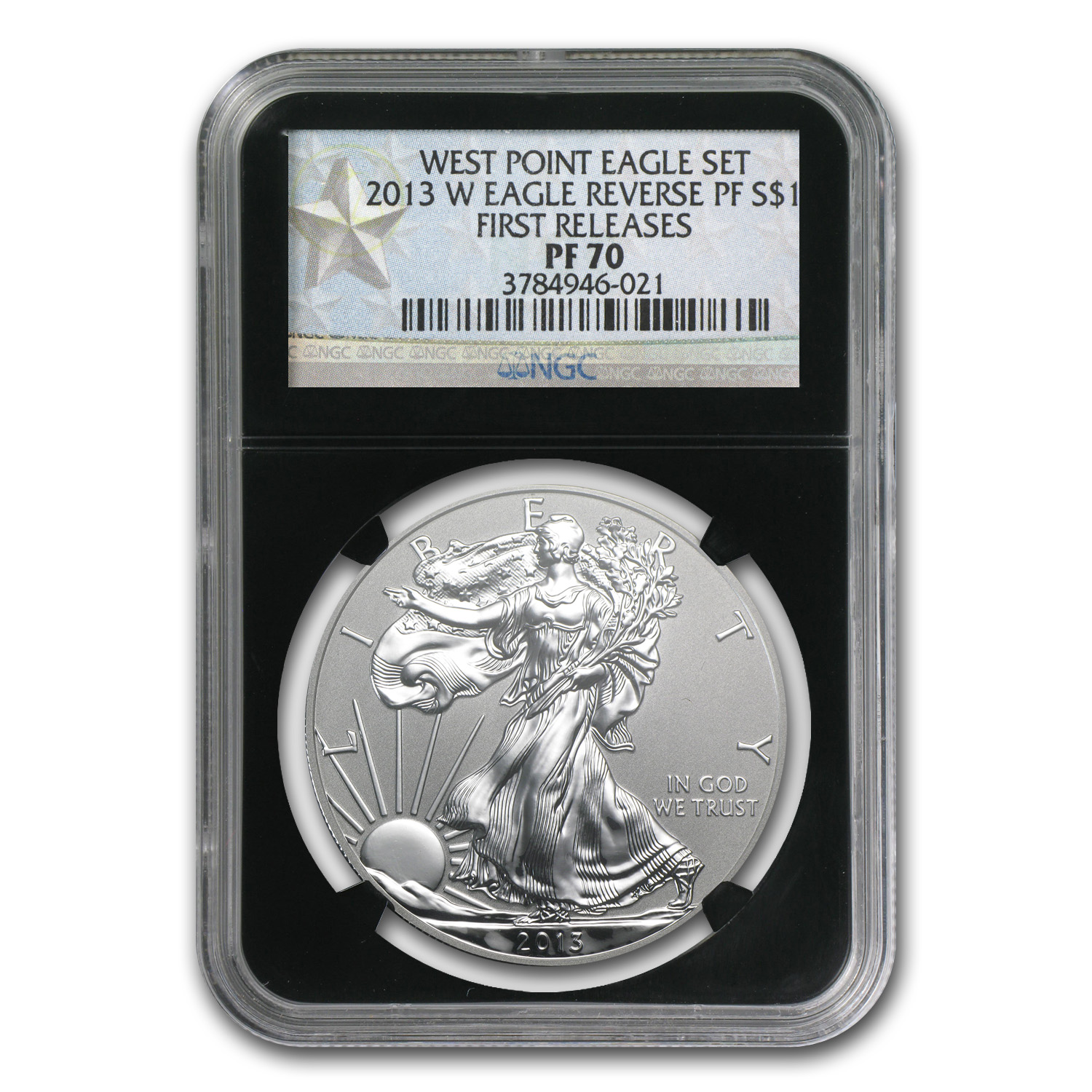 2013-W Reverse Proof Silver Eagle PF-70 NGC (First Releases)