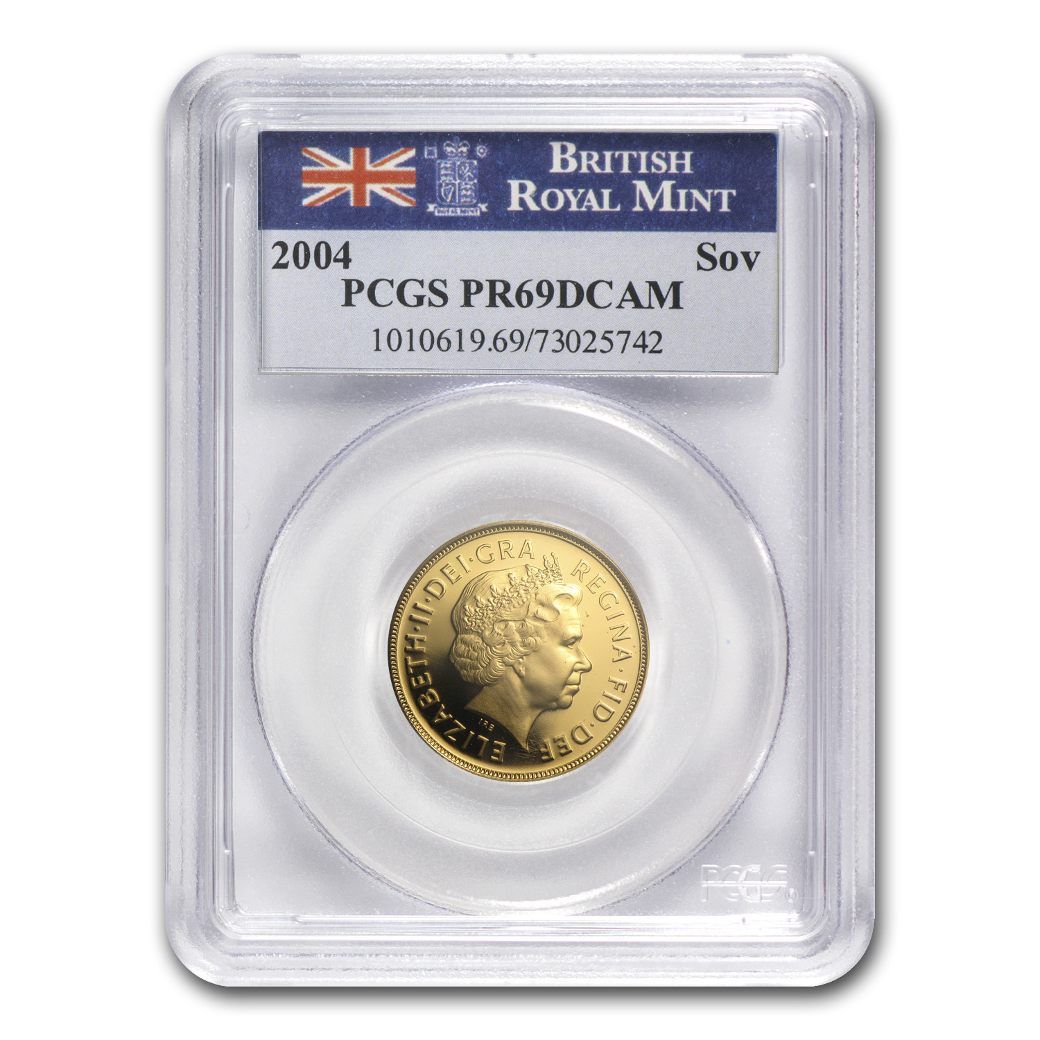 Great Britain 2004 Gold Sovereign PR-69 DCAM PCGS