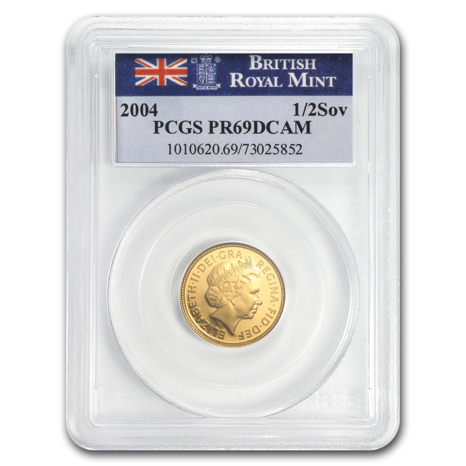 Great Britain 2004 Gold 1/2 Sovereign PR-69 DCAM PCGS