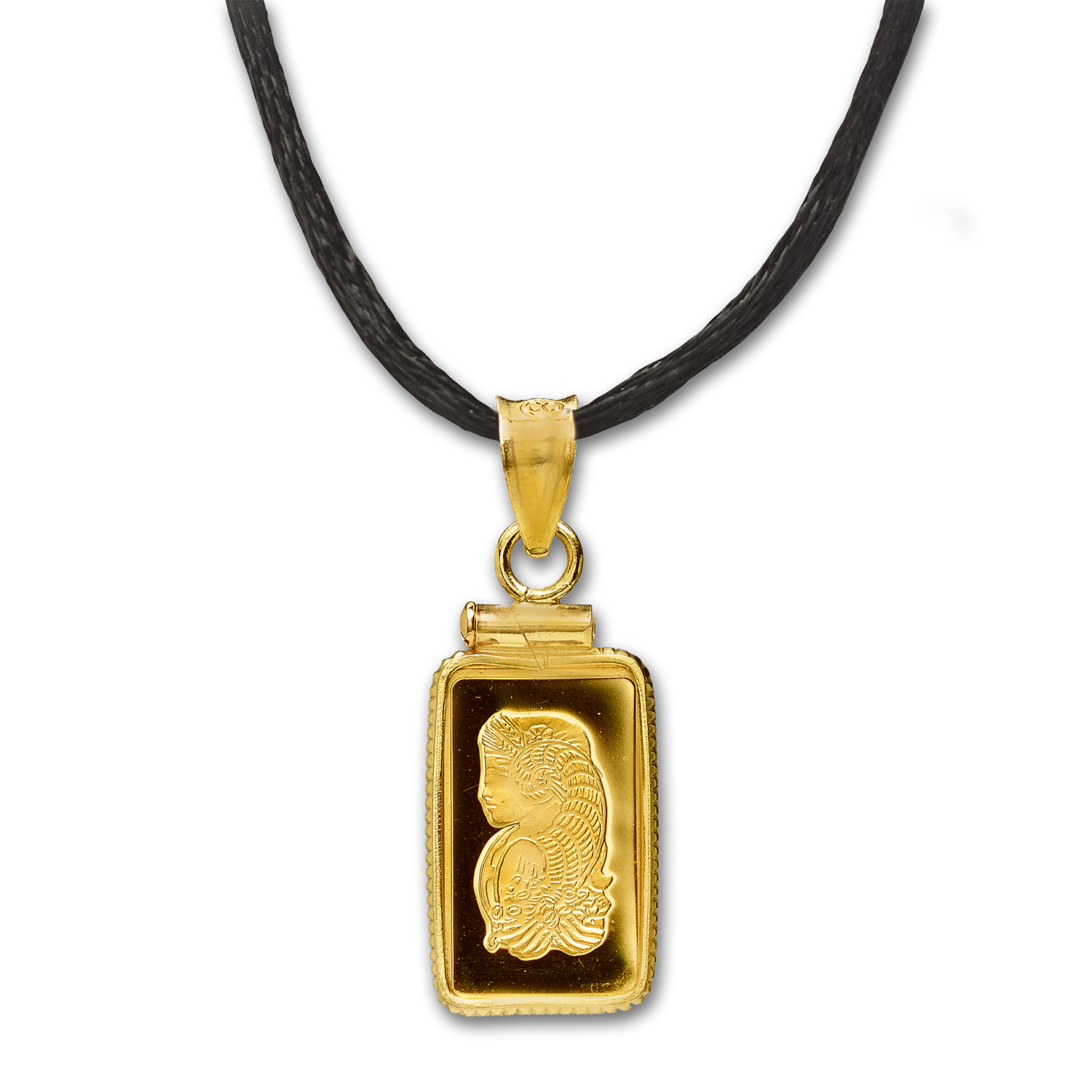 1 gram Gold Pendants - Pamp Suisse (w/Satin Necklace)