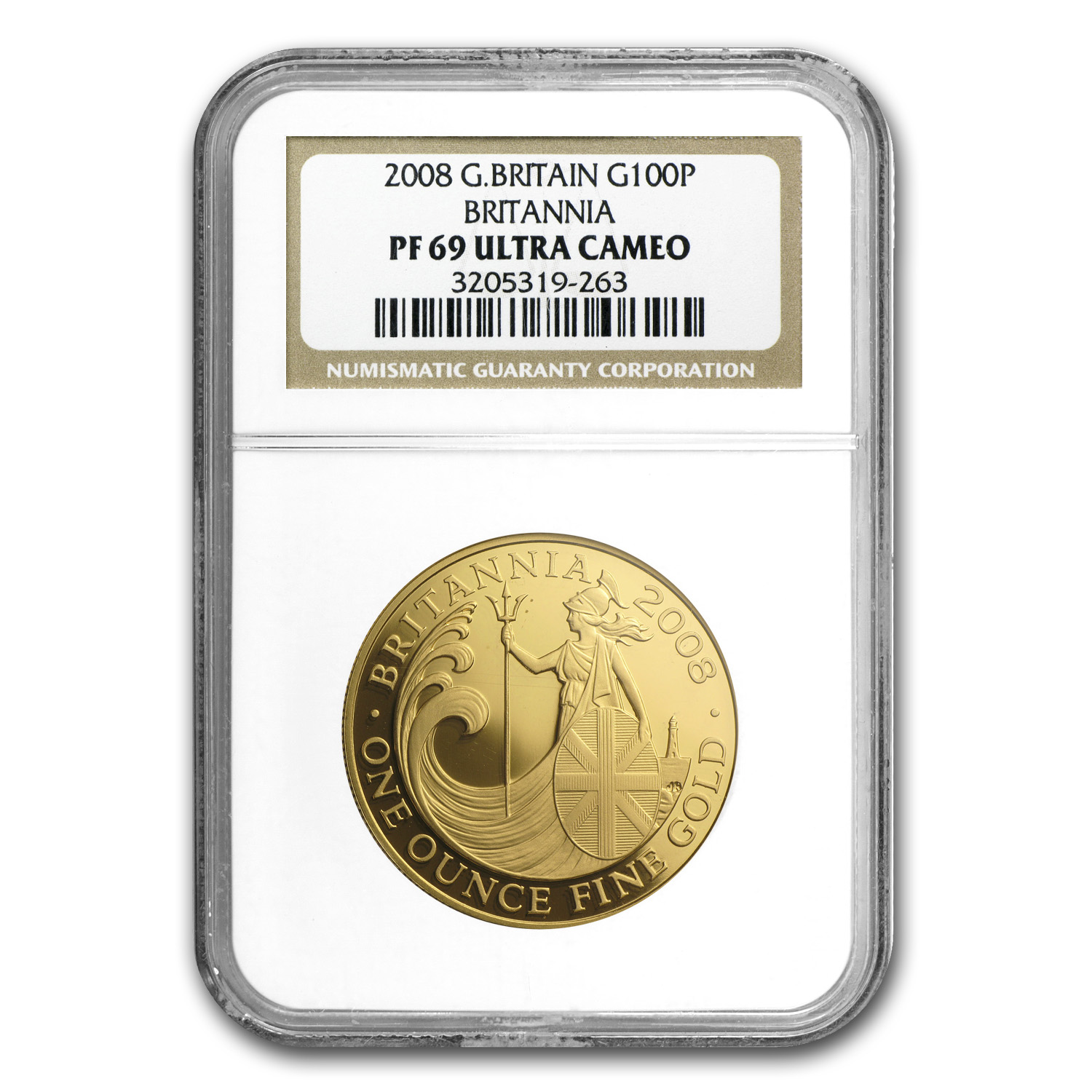 2008 1 oz Proof Gold Britannia PF-69 UCAM NGC