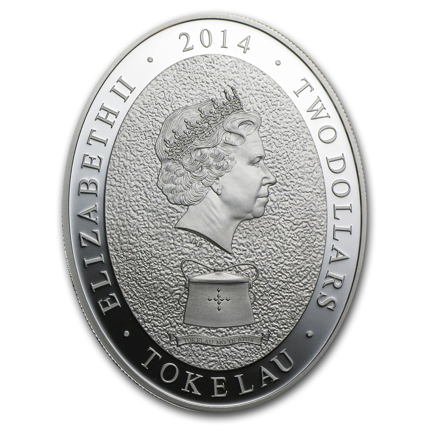 2014 Tokelau 1 oz Silver Year of the Horse Elements Prf (Oval)