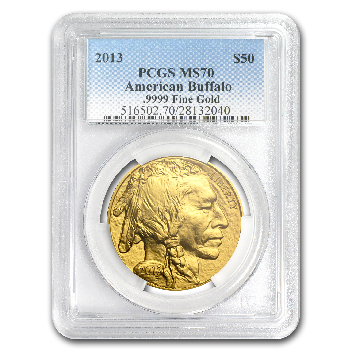 2013 1 oz Gold Buffalo MS-70 PCGS