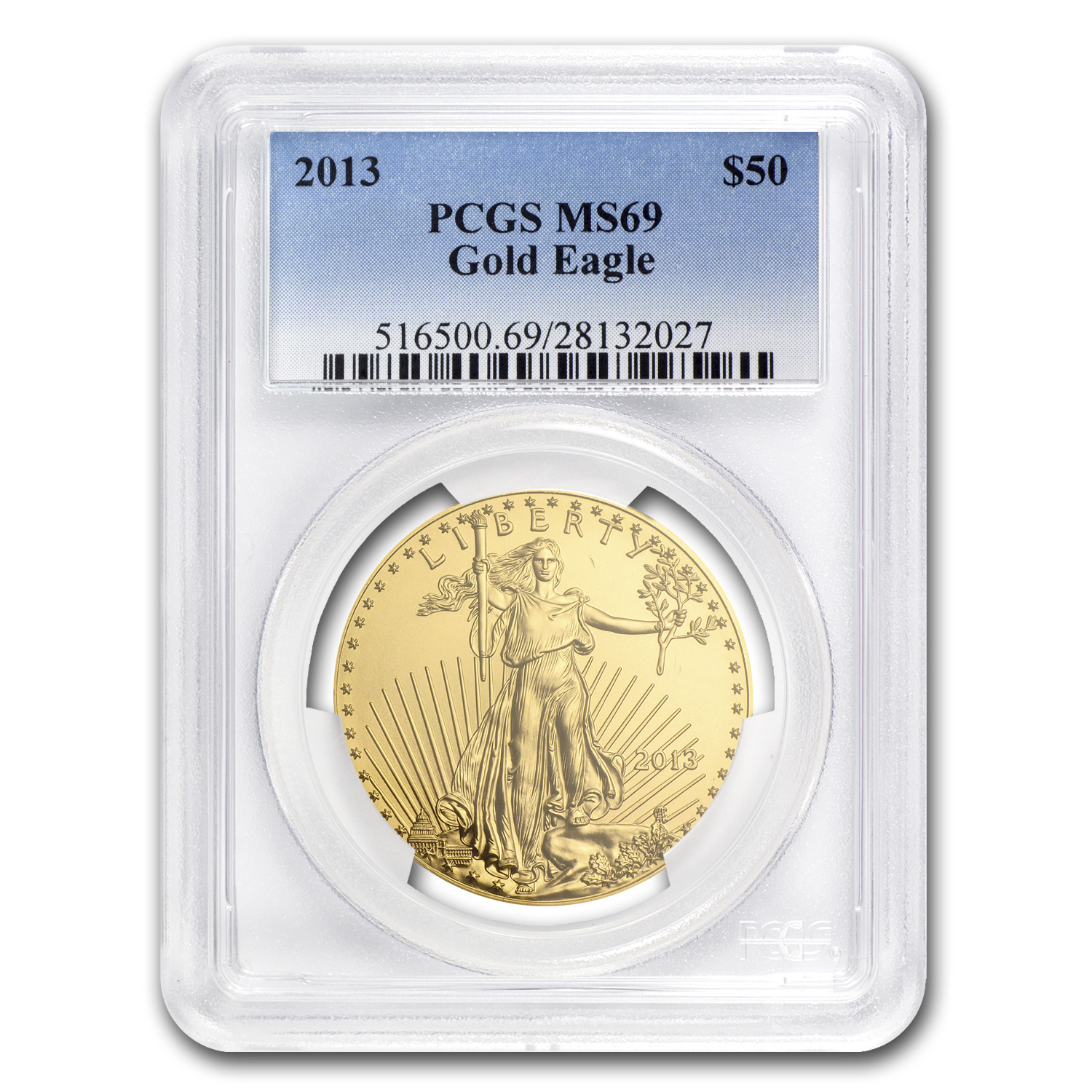 2013 1 oz Gold American Eagle MS-69 PCGS
