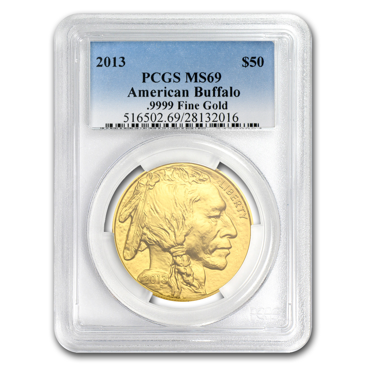 2013 1 oz Gold Buffalo MS-69 PCGS