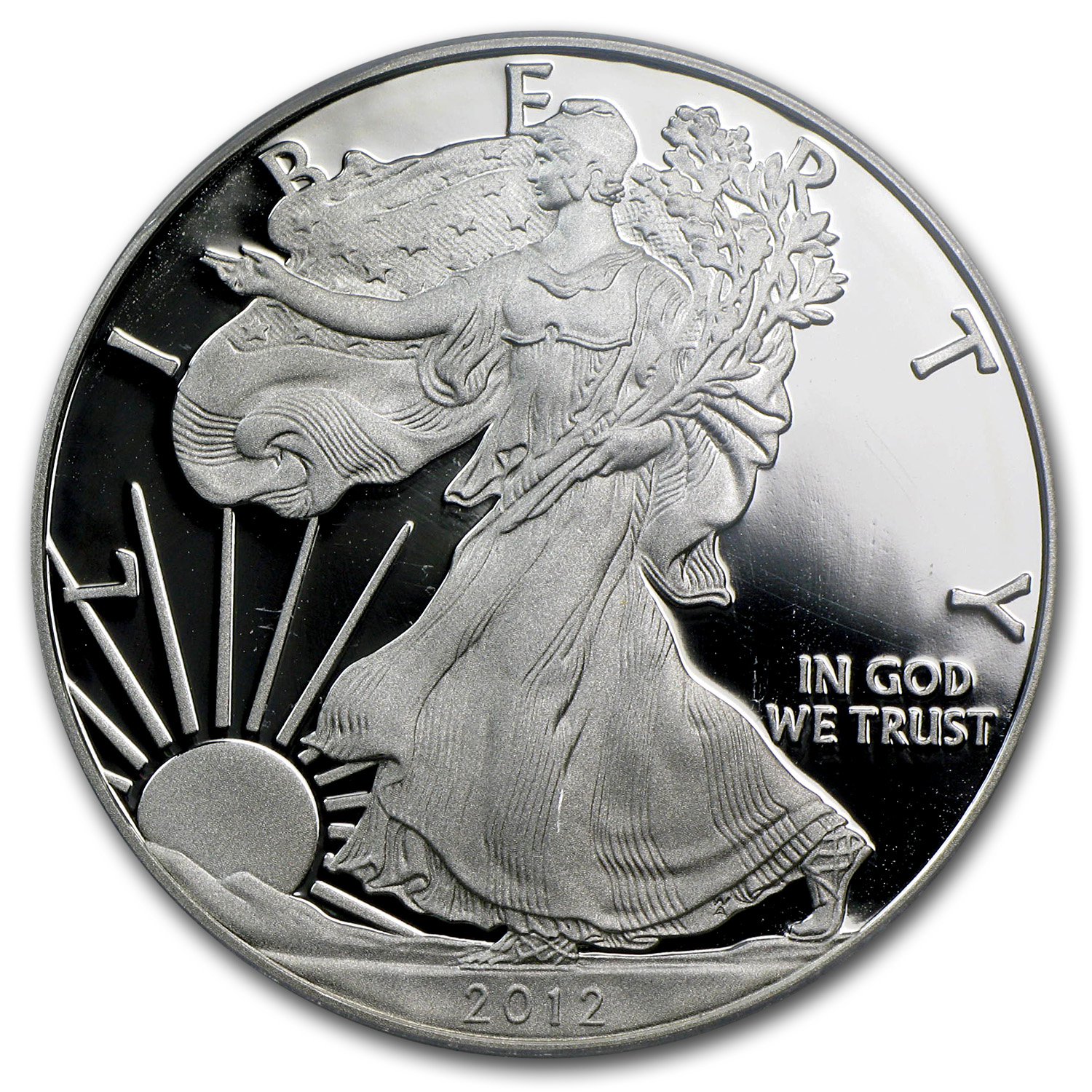 2012-S Proof Silver Eagle PR-70 PCGS 75th Anniv