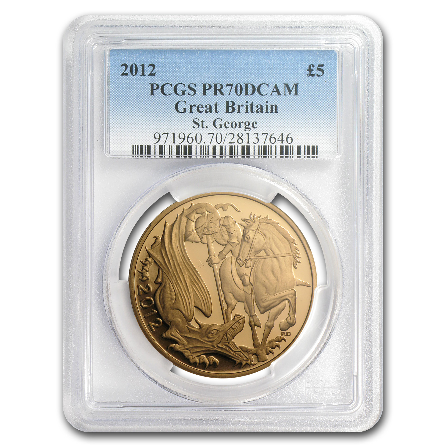 2012 Great Britain Gold £5 PR-70 PCGS