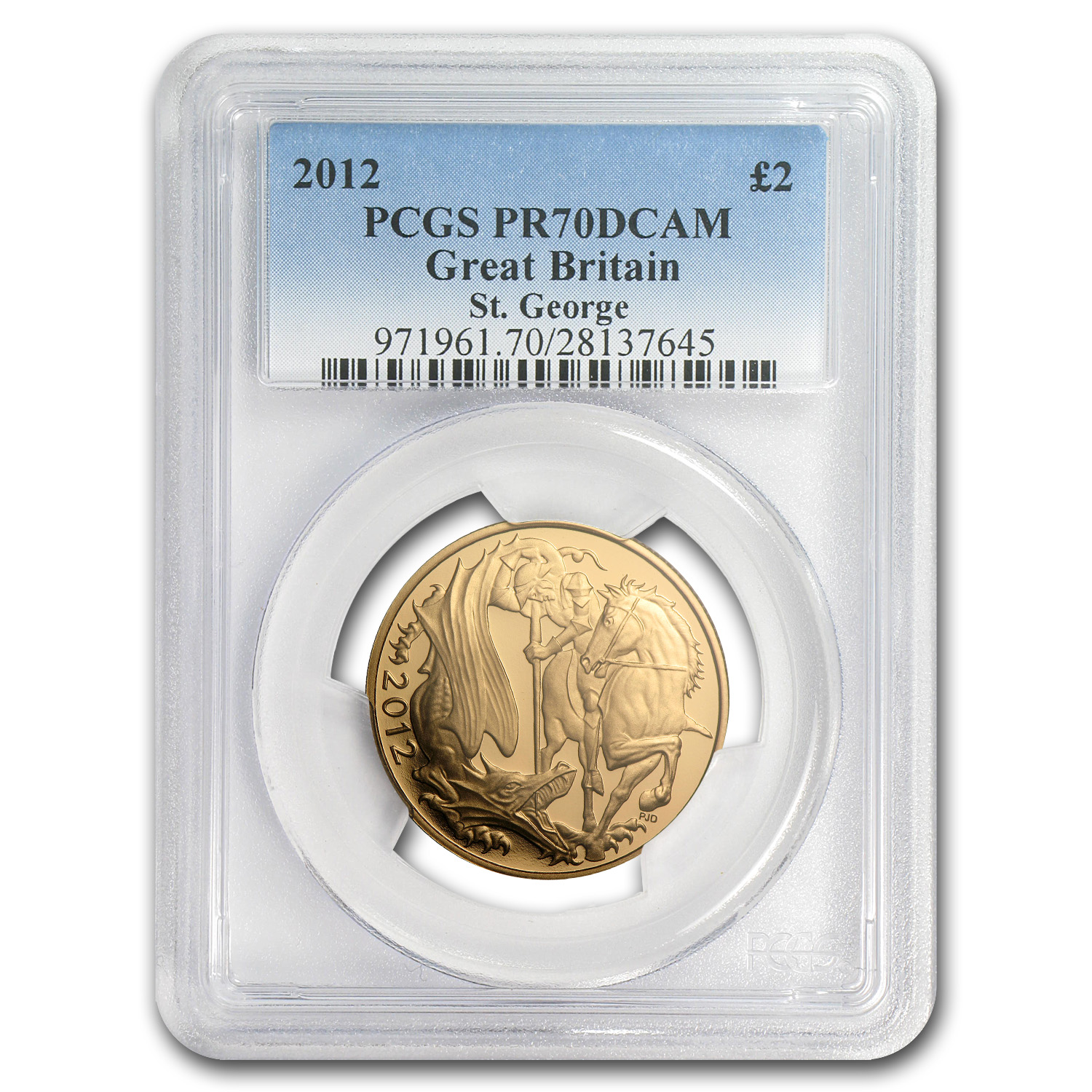 Great Britain 2012 Gold Double Sovereign PR-70 DCAM PCGS