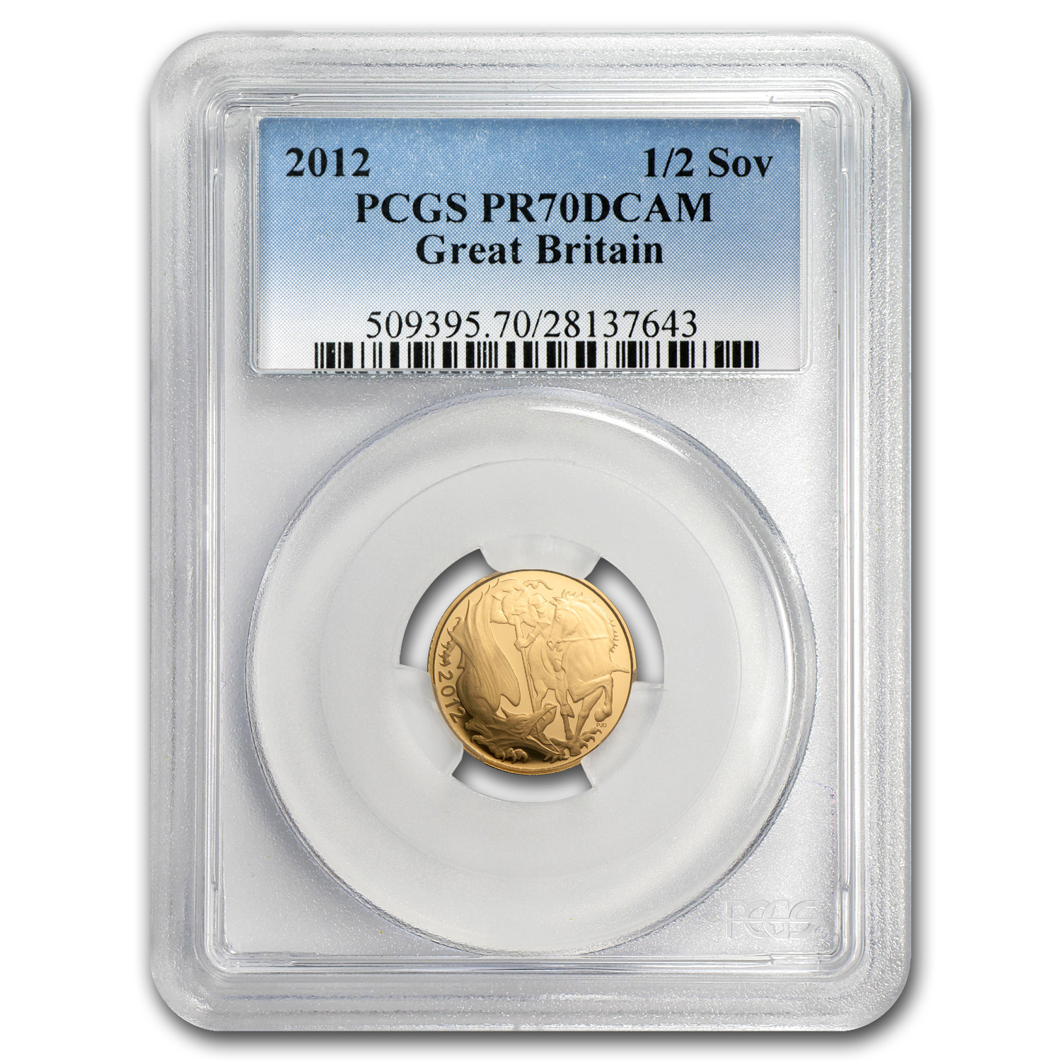 Great Britain 2012 Gold 1/2 Sovereign PR-70 DCAM PCGS