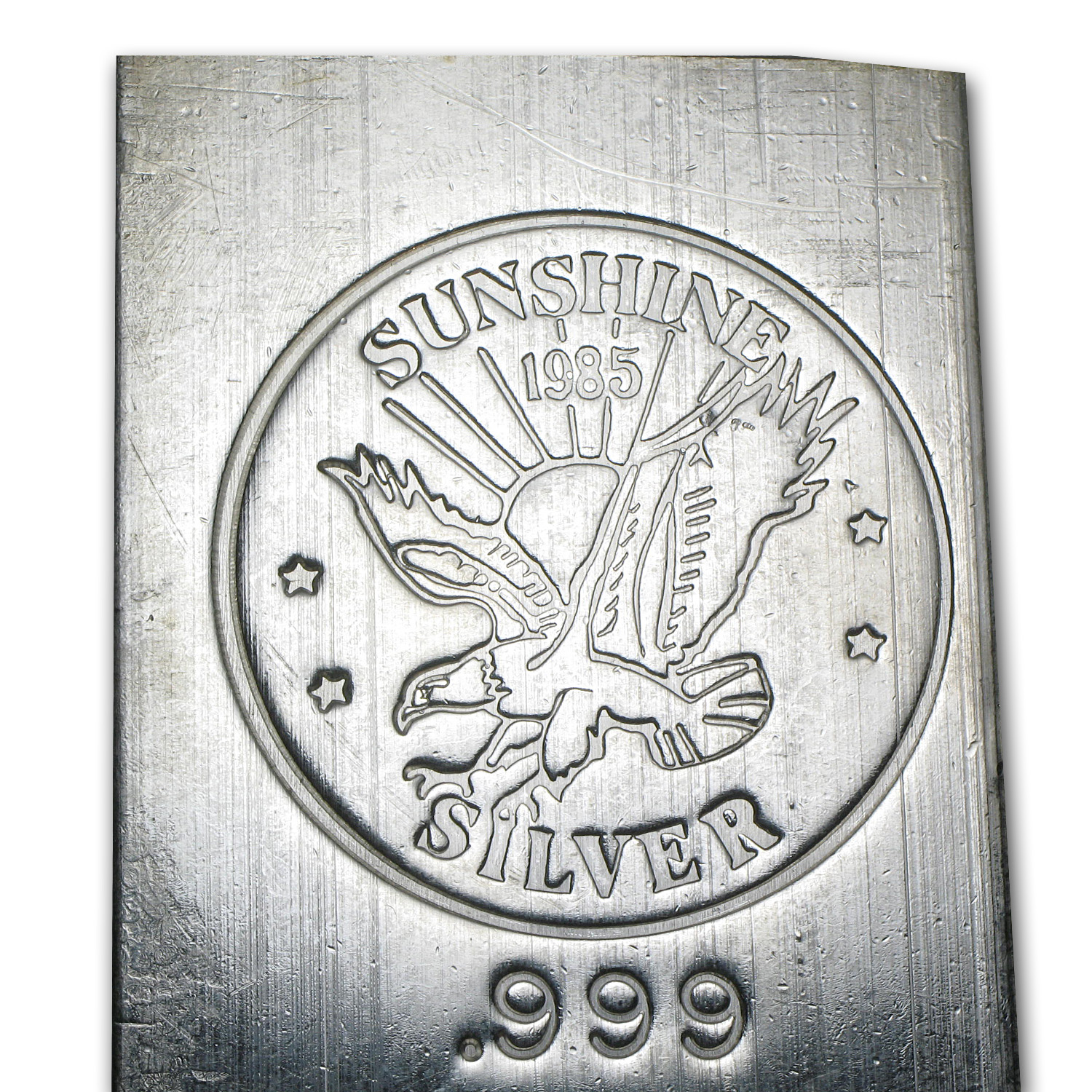 100 oz Silver Bars - Sunshine (1985/Vintage/Struck)