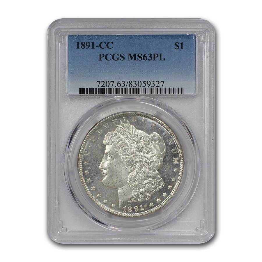 1891-CC Morgan Dollar - MS-63 PL Proof Like PCGS