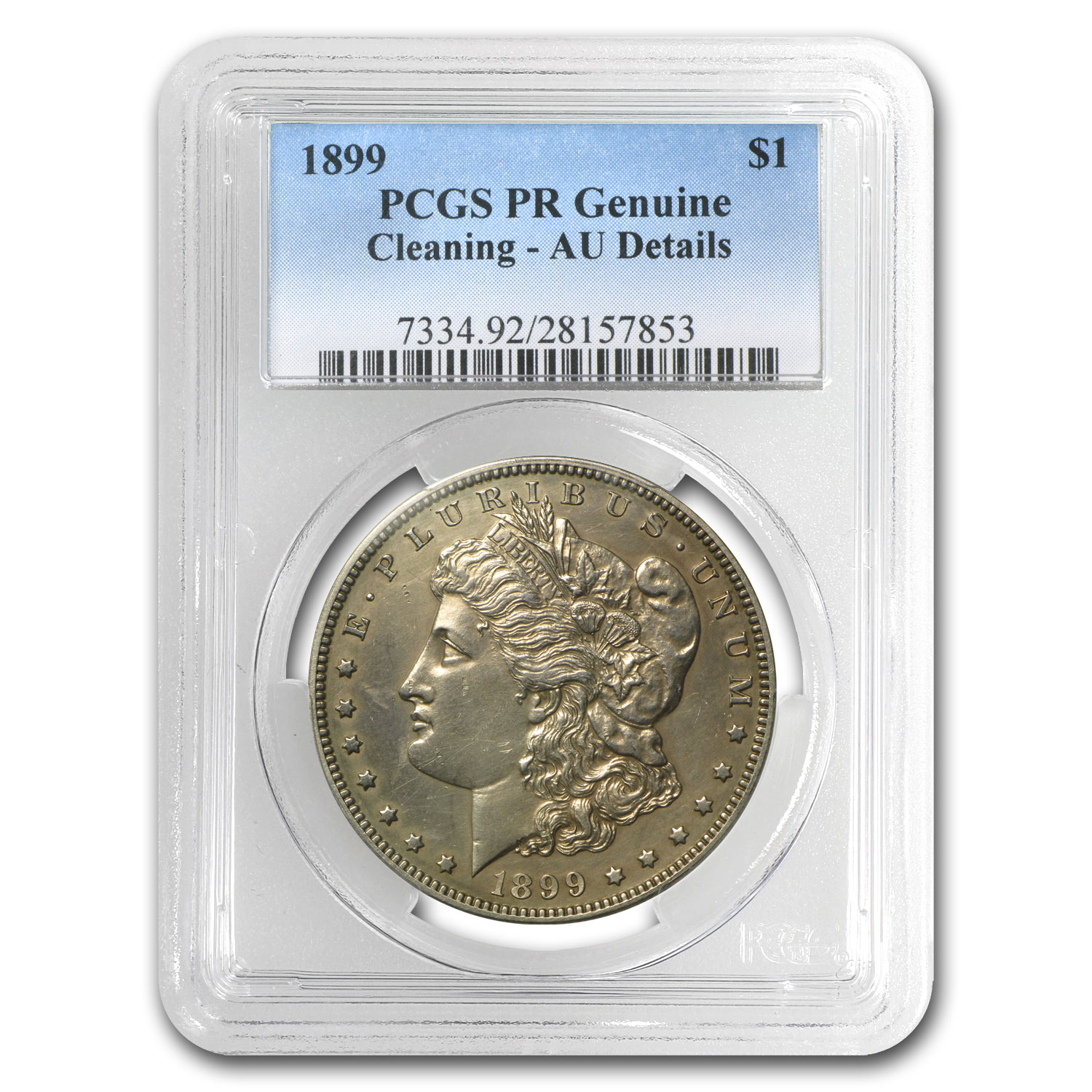 1899 Morgan Dollar Proof-58 Details PCGS (Cleaned)