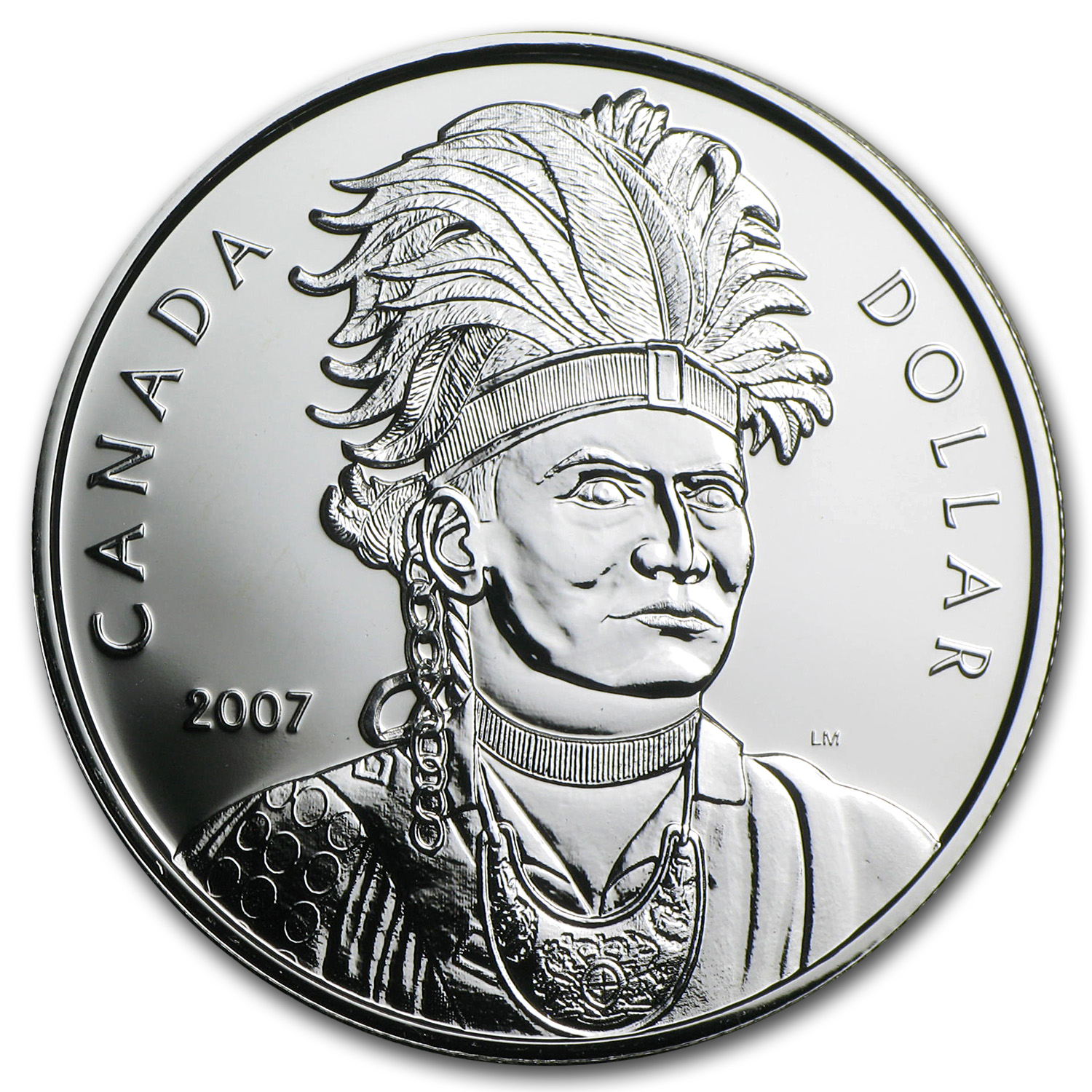 2007 Silver Canadian $1 - Celebrating Thayendanegea 1742-1807
