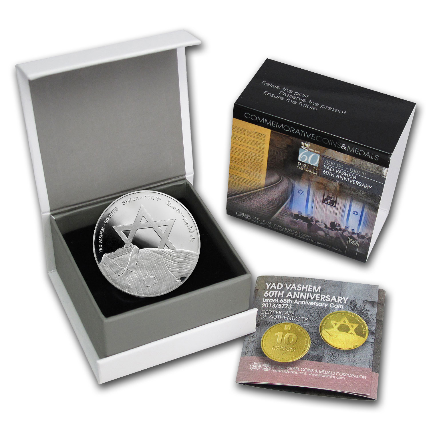 2013 Israel Yad Vashem Silver 1 NIS Proof-Like (w/Box & COA)