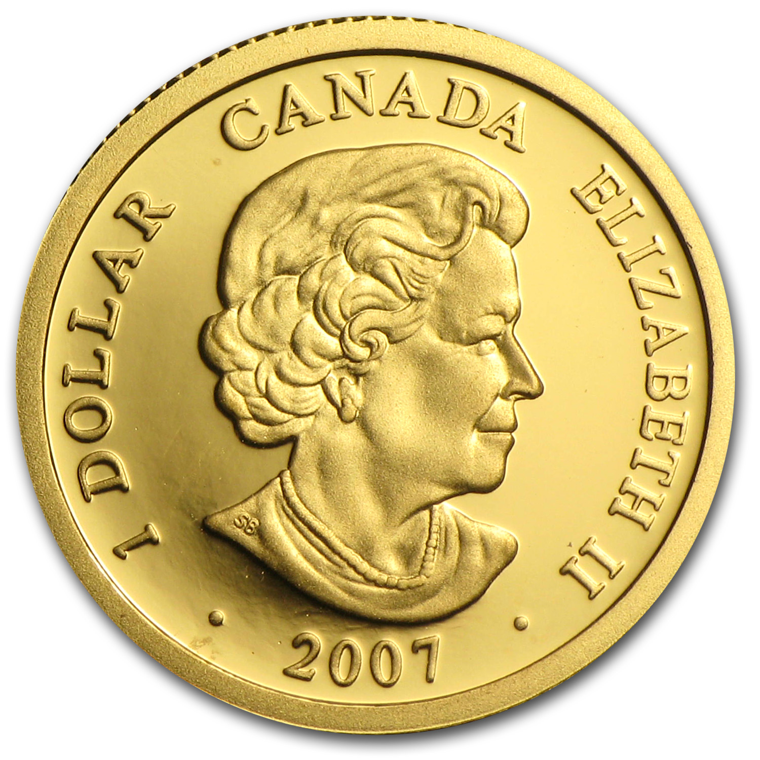 2007 Canada 1/20 oz Proof Gold $1 Louis d'or aux Lunettes