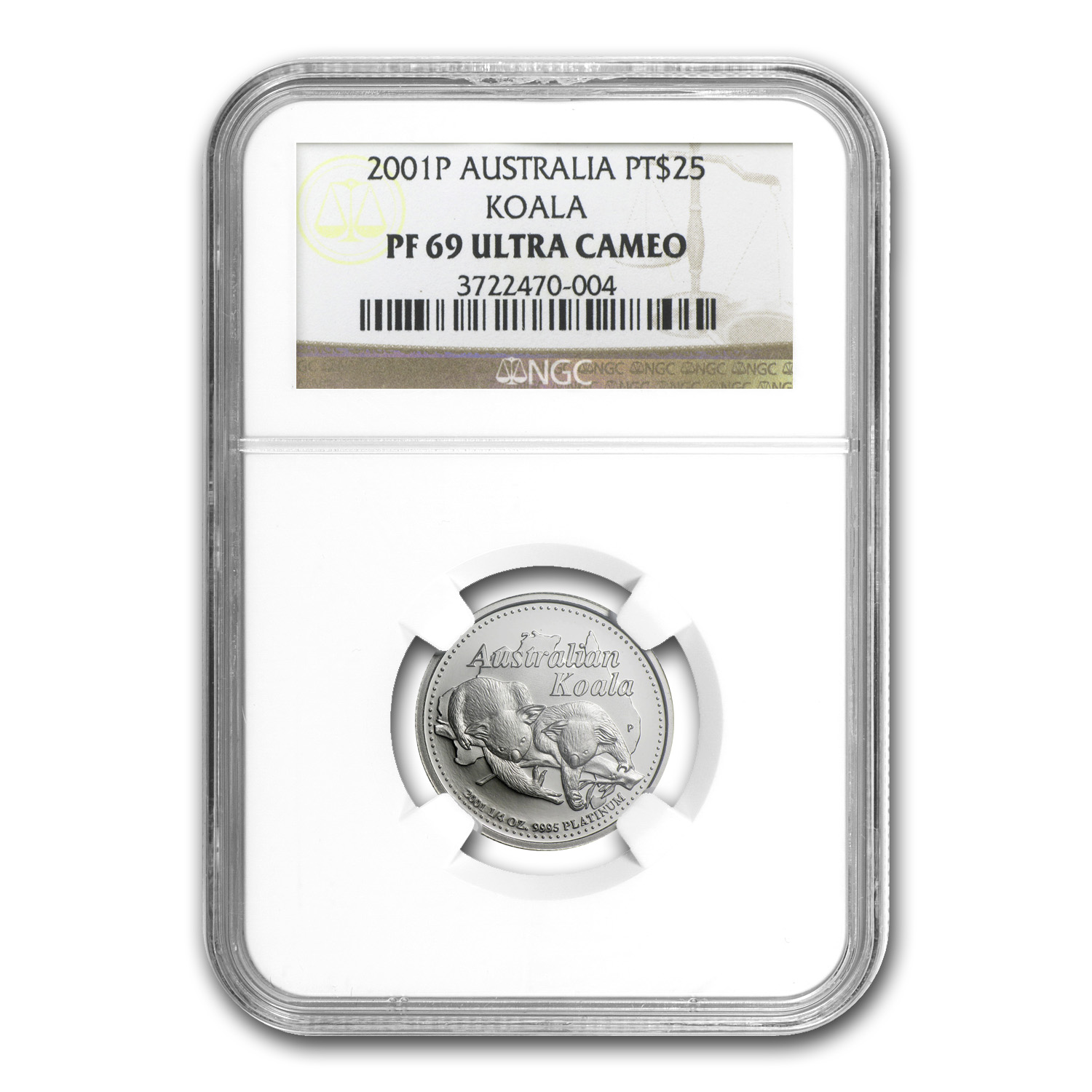 2001 Australia 1/4 oz Proof Platinum Koala PF-69 NGC