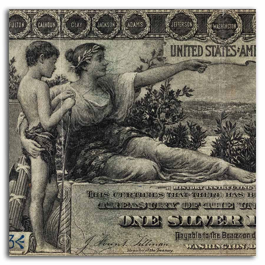 1896 $1.00 Silver Certificate Educational (PMG (Very Fine)-20)