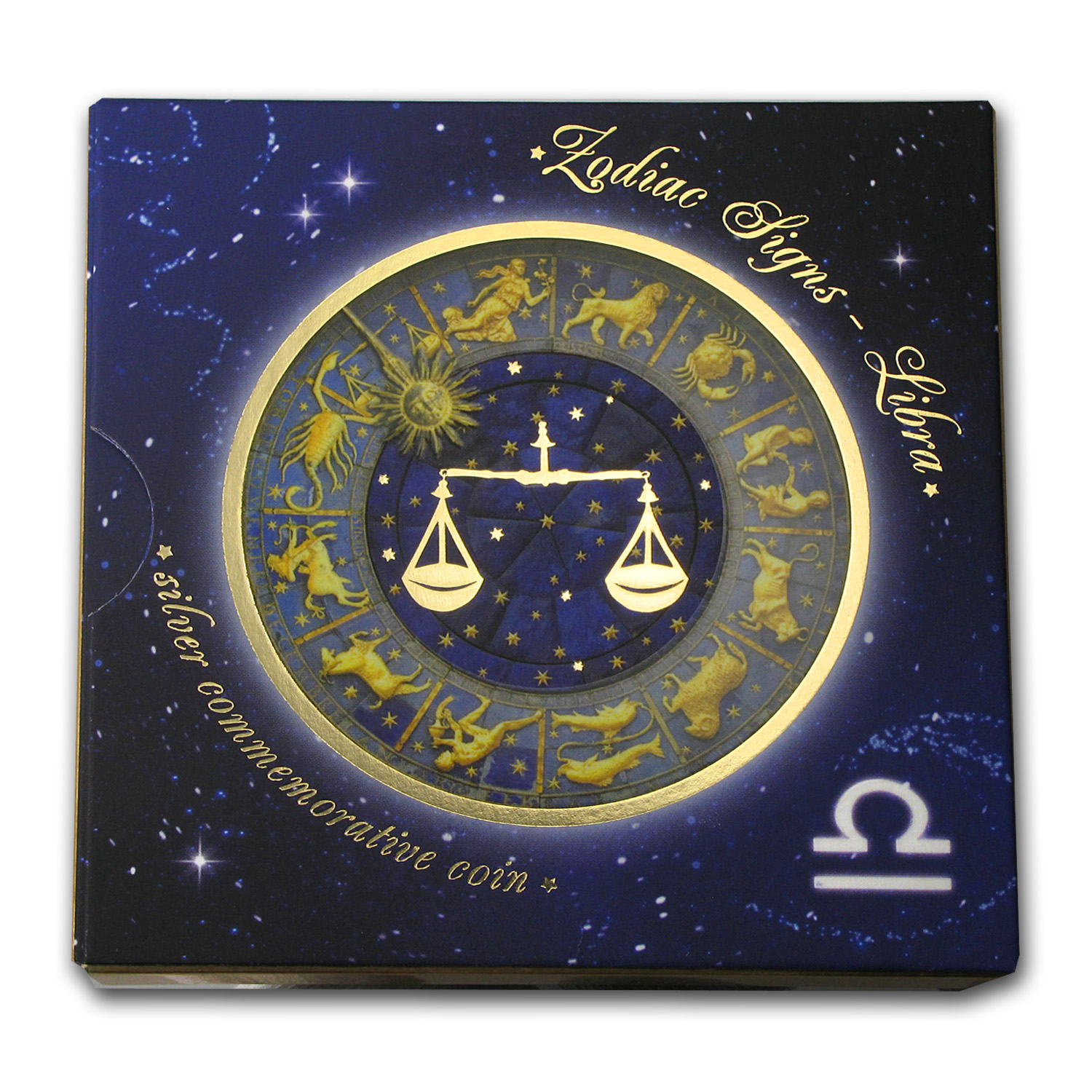 2013 Belarus Silver Proof 20 Rubles Zodiac Signs Libra