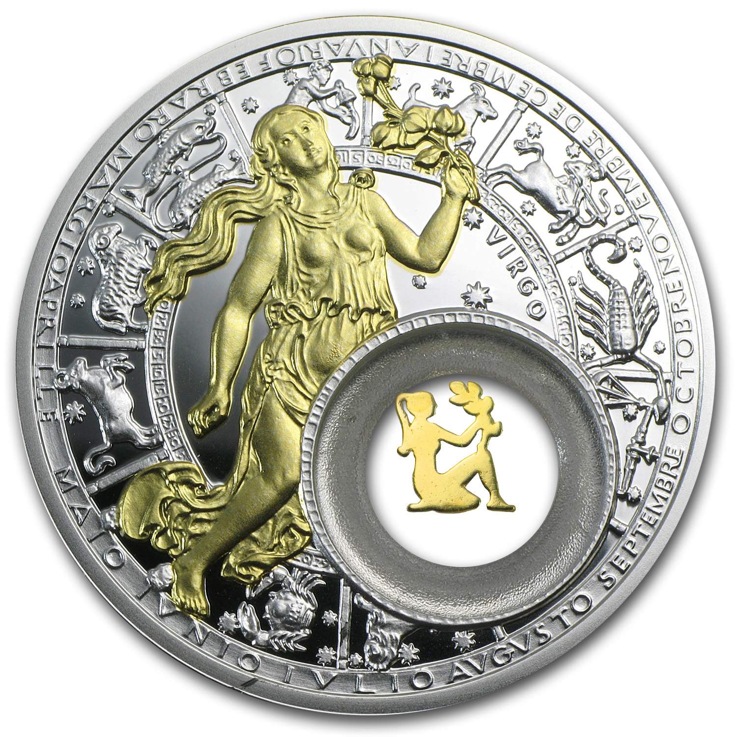2013 Belarus Silver Proof 20 Rubles Zodiac Signs Virgo