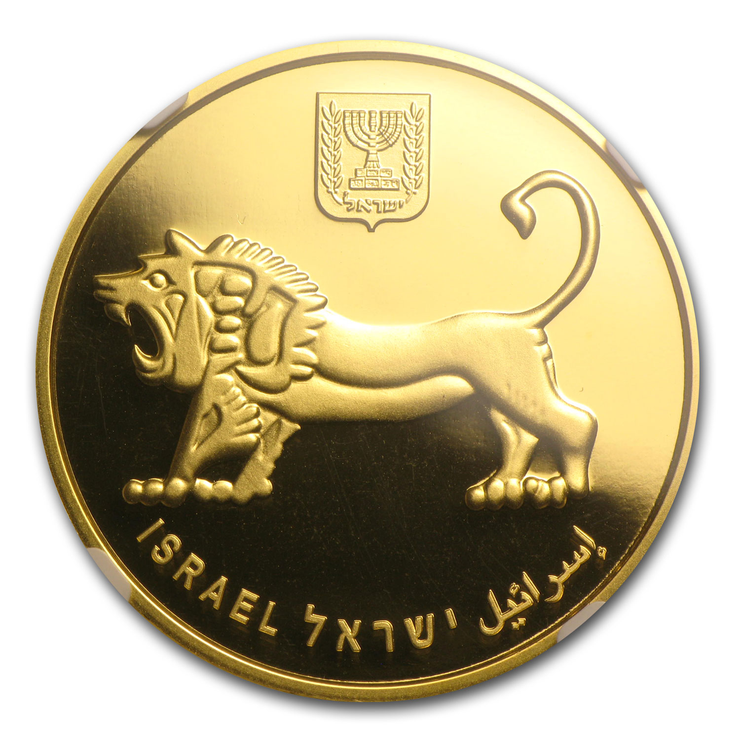 2012 Israel 1 oz Gold Menorah MS-69 NGC