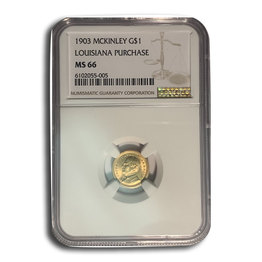 1903 Gold $1.00 Louisiana Purchase McKinley MS-66 NGC