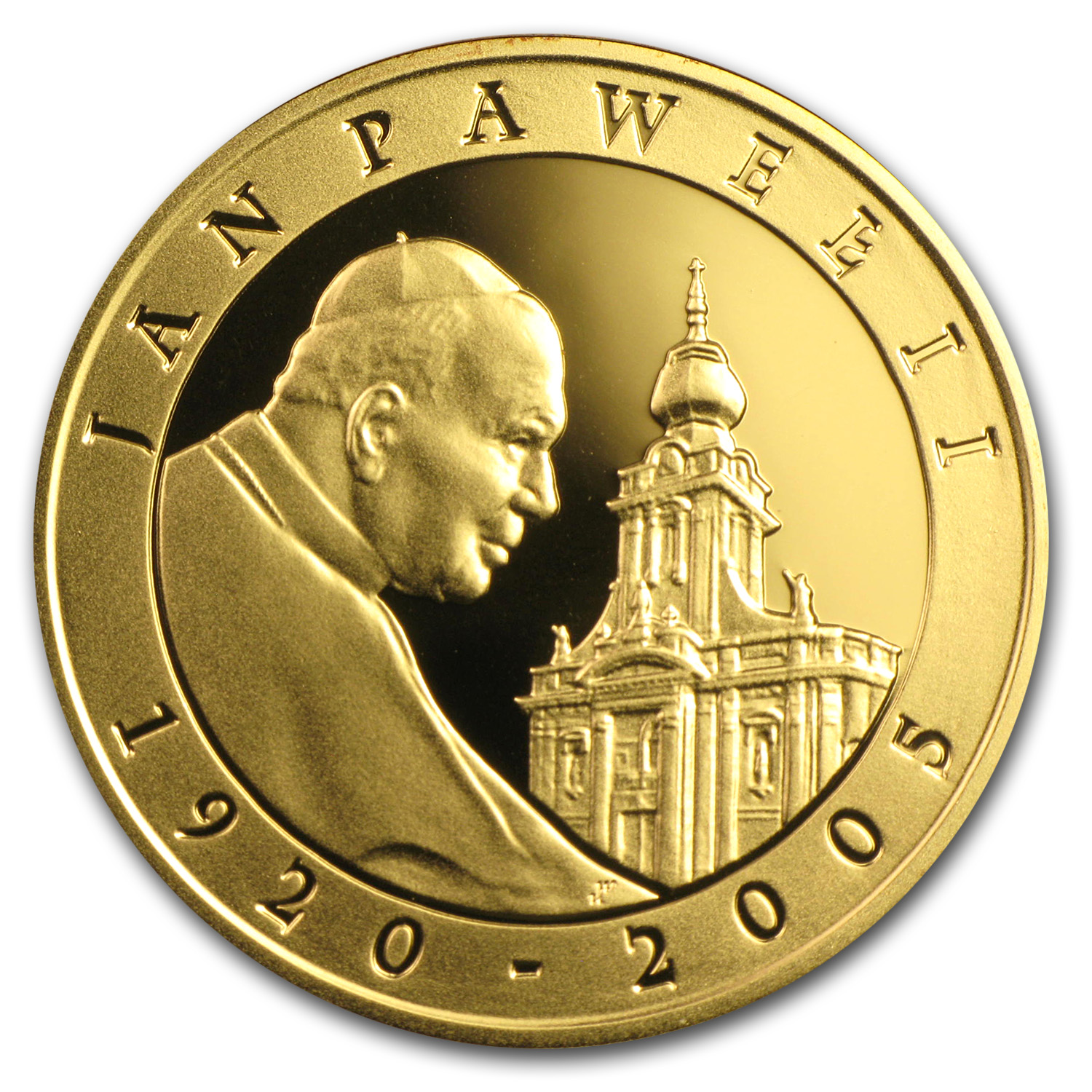 2005 Poland Silver 10 Zlotlych Pope John Paul II Proof