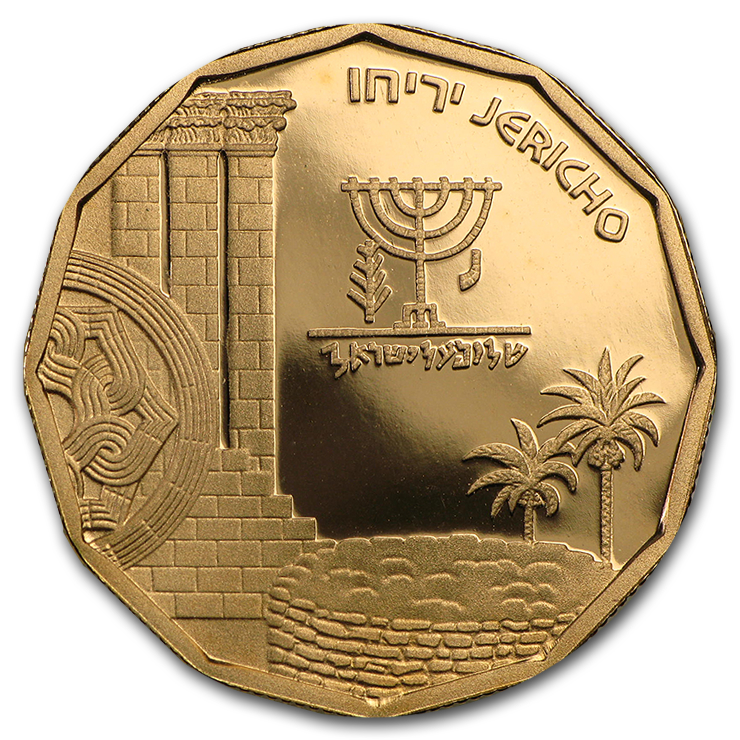 1987 Israel Gold 5 NIS Jericho