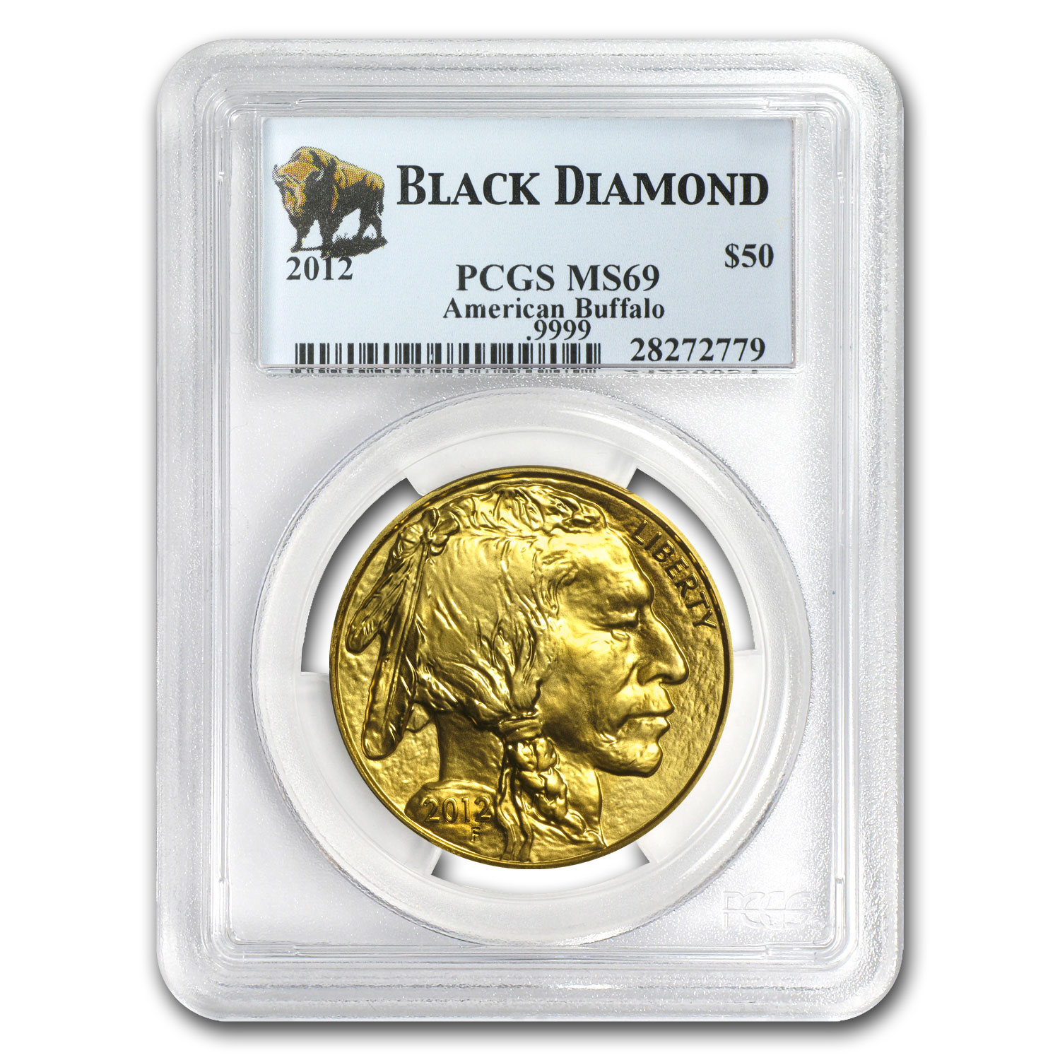 2012 1 oz Gold Buffalo MS-69 PCGS (Black Diamond)