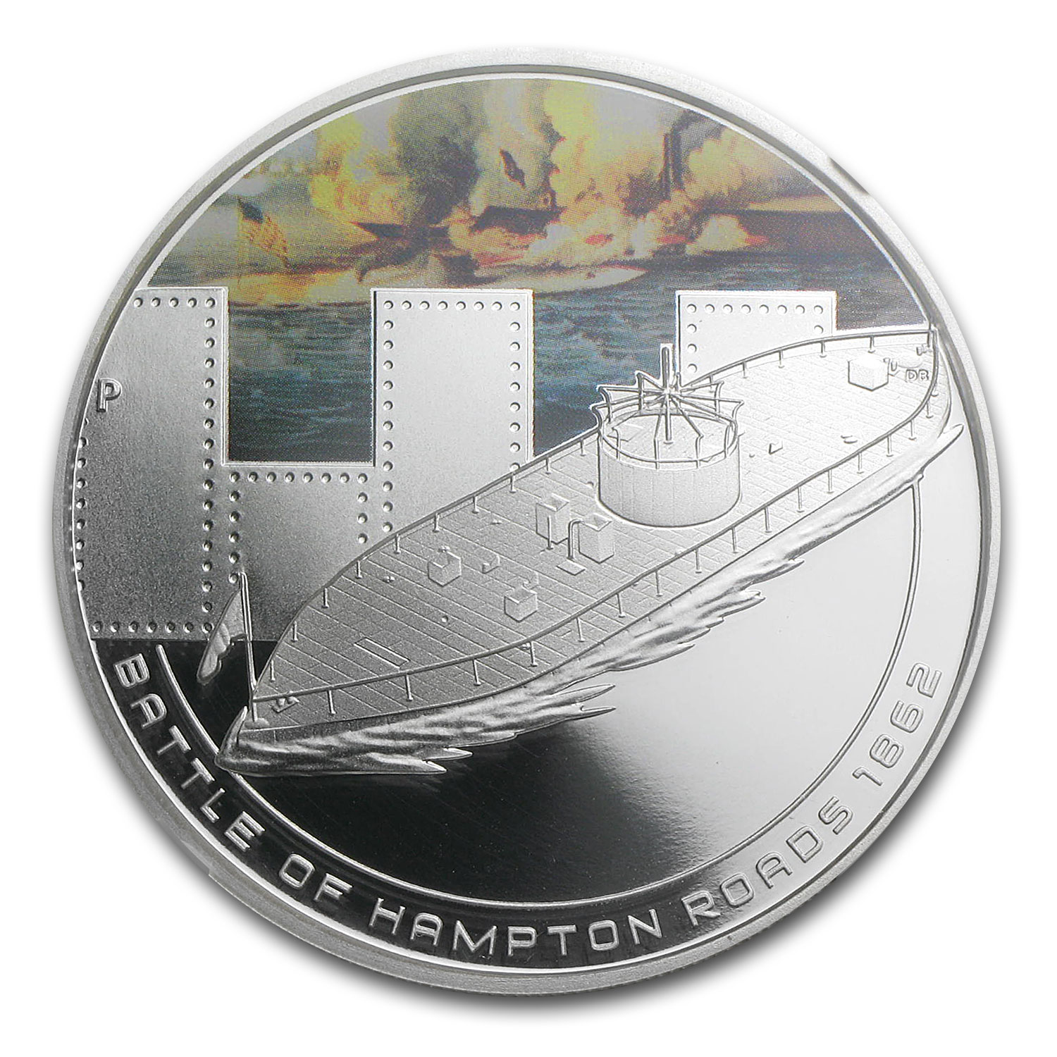 2010 1 oz Proof Silver Battle of Hampton Coin NGC PF-70