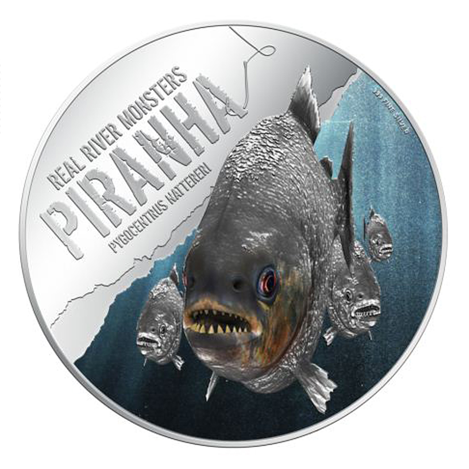 2013 Niue 1 oz Silver $2 Real River Monster Piranha (w/Box & COA)