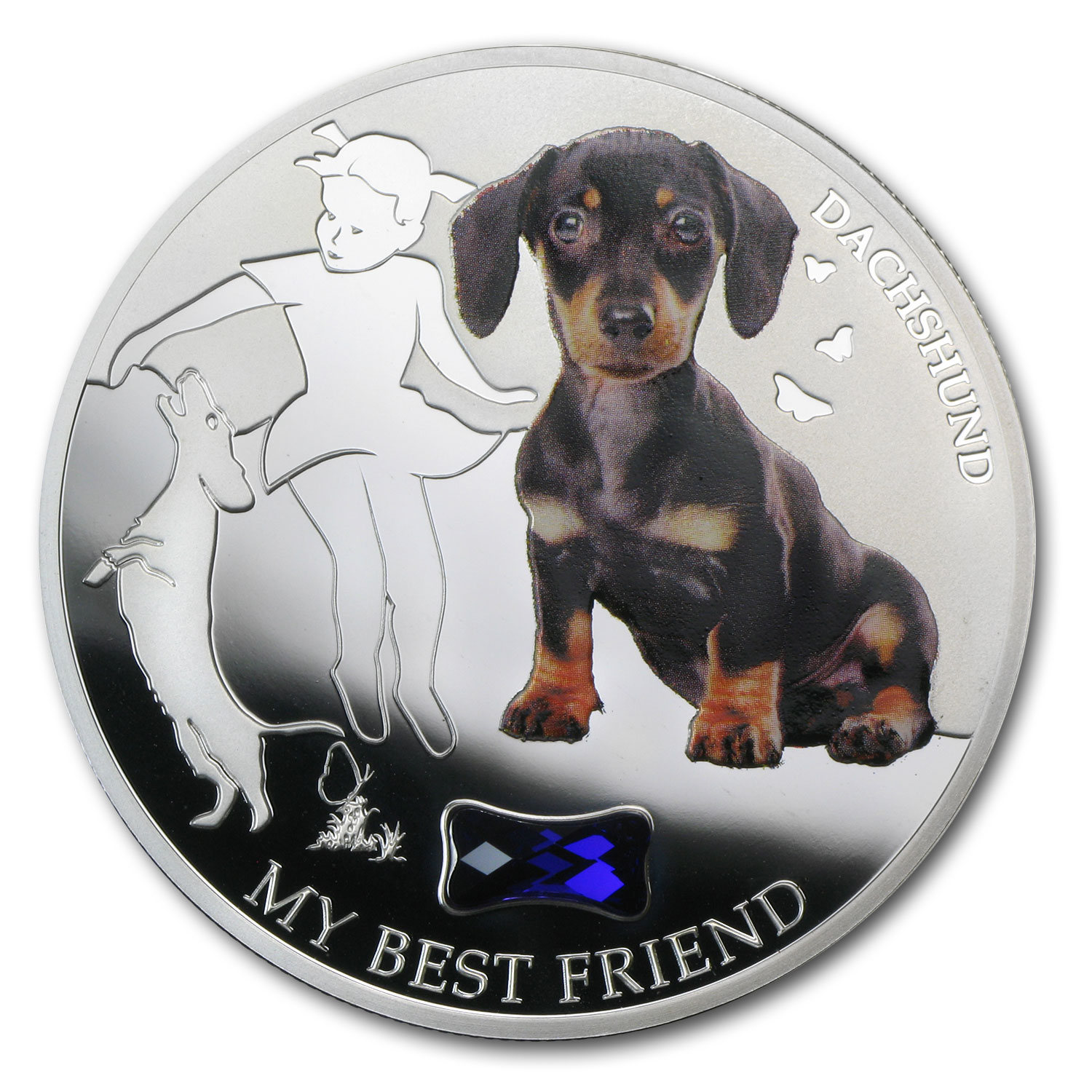 2013 Fiji Silver Dogs & Cats Series My Best Friend Dachshund