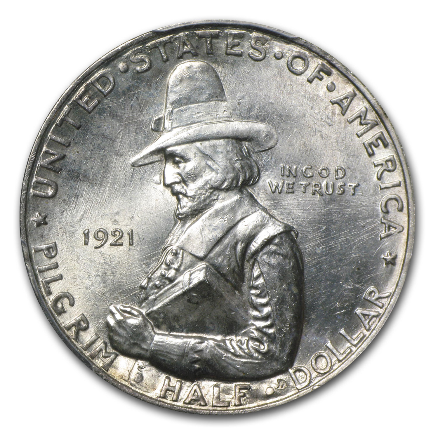 1921 Pilgrim Tercentenary Half Dollar MS-64 PCGS (Conical Hat)