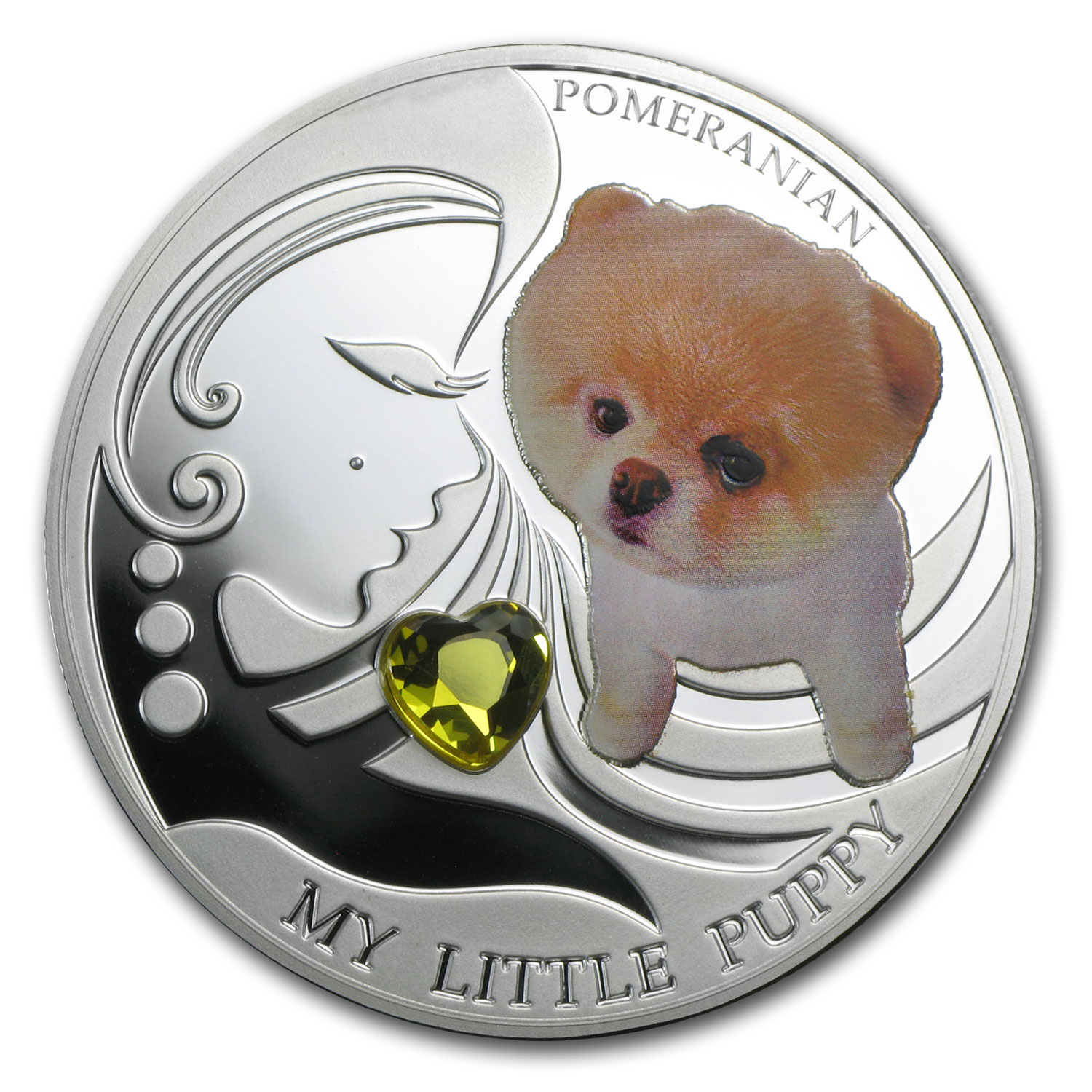 Fiji 2013 Silver Dogs & Cats Series -My Little Puppy - Pomeranian