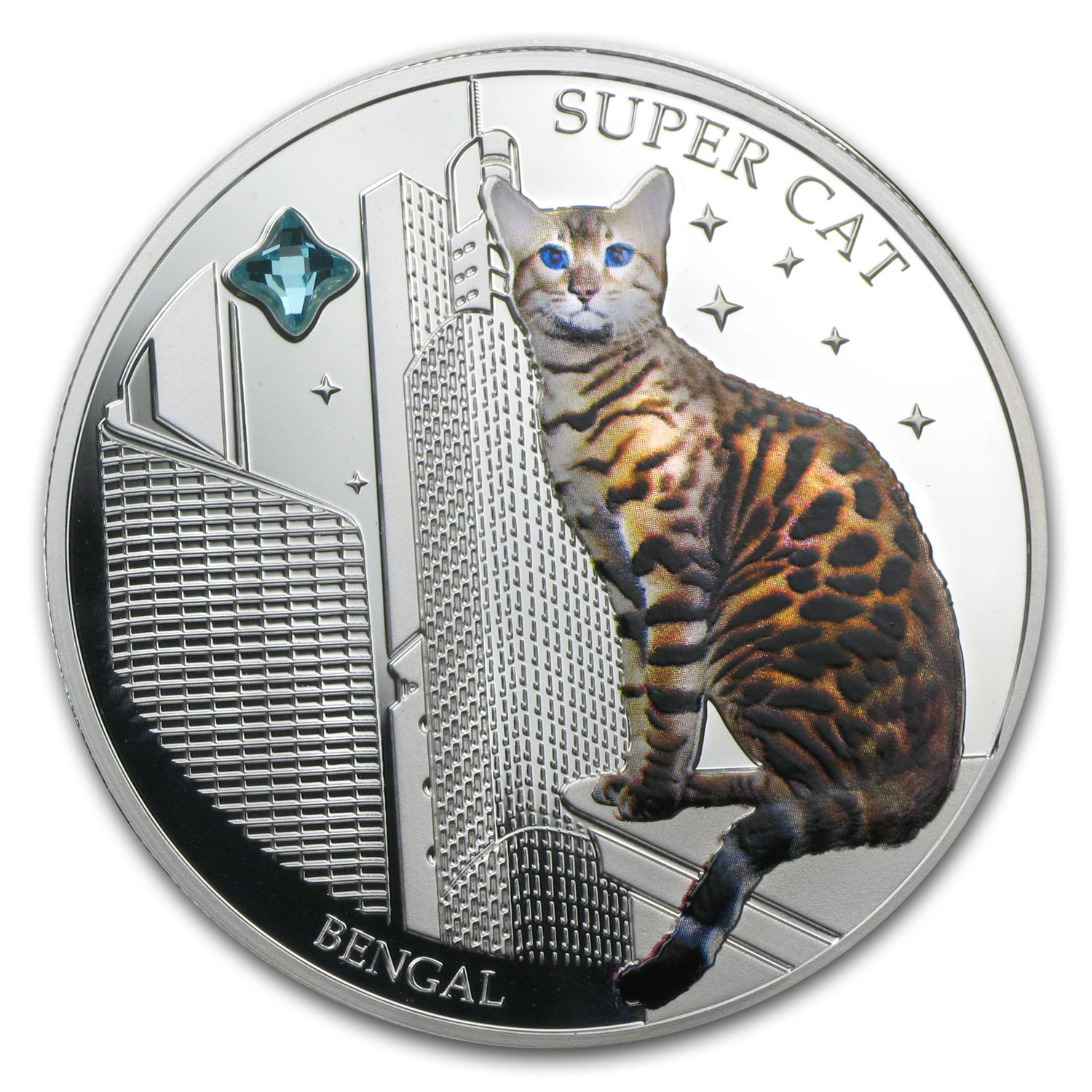 2013 Fiji Silver Dogs & Cats Series Super Cat Bengal